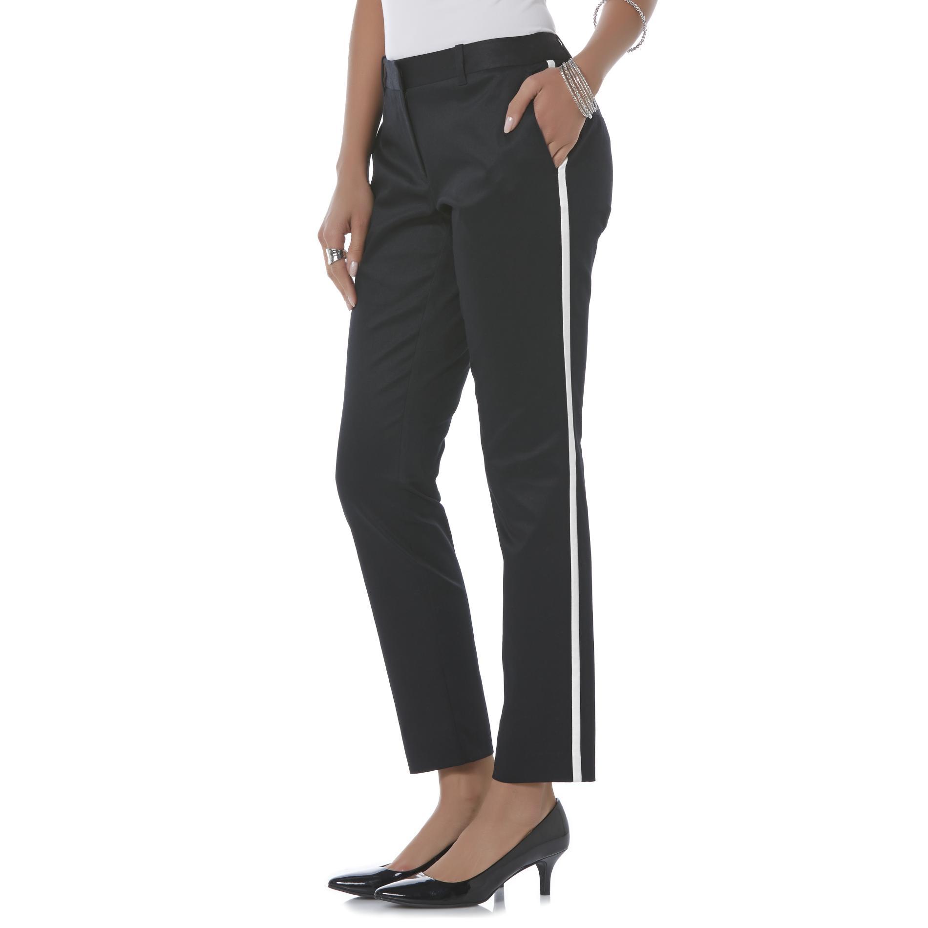 Metaphor Women's Dress Pants - Tuxedo Stripe