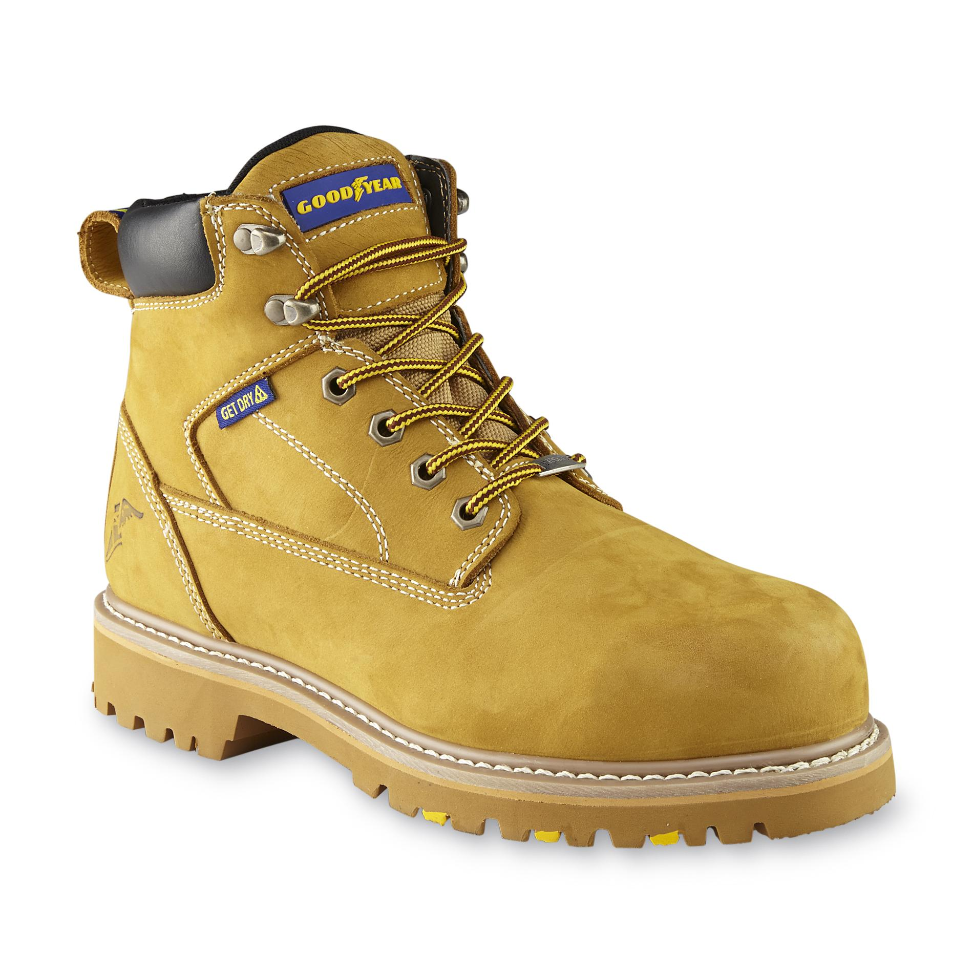 Goodyear Men's Daytona Tan Waterproof Steel Toe Work Boot GY6361C - Wide Width
