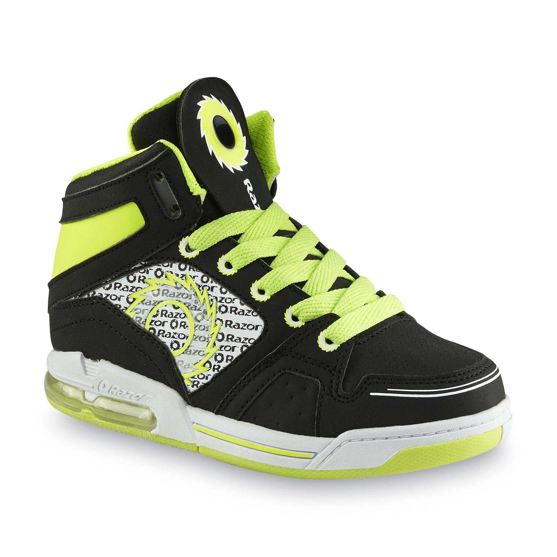 Razor™ Razor™ Boy's Gid Black/Green Light-Up High-Top Skate Shoe