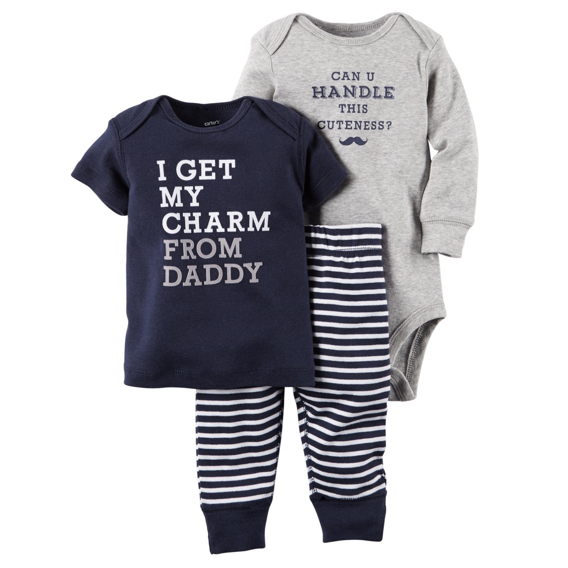 Carter S Newborn Infant Boy S T Shirt Pants Bodysuit Charm
