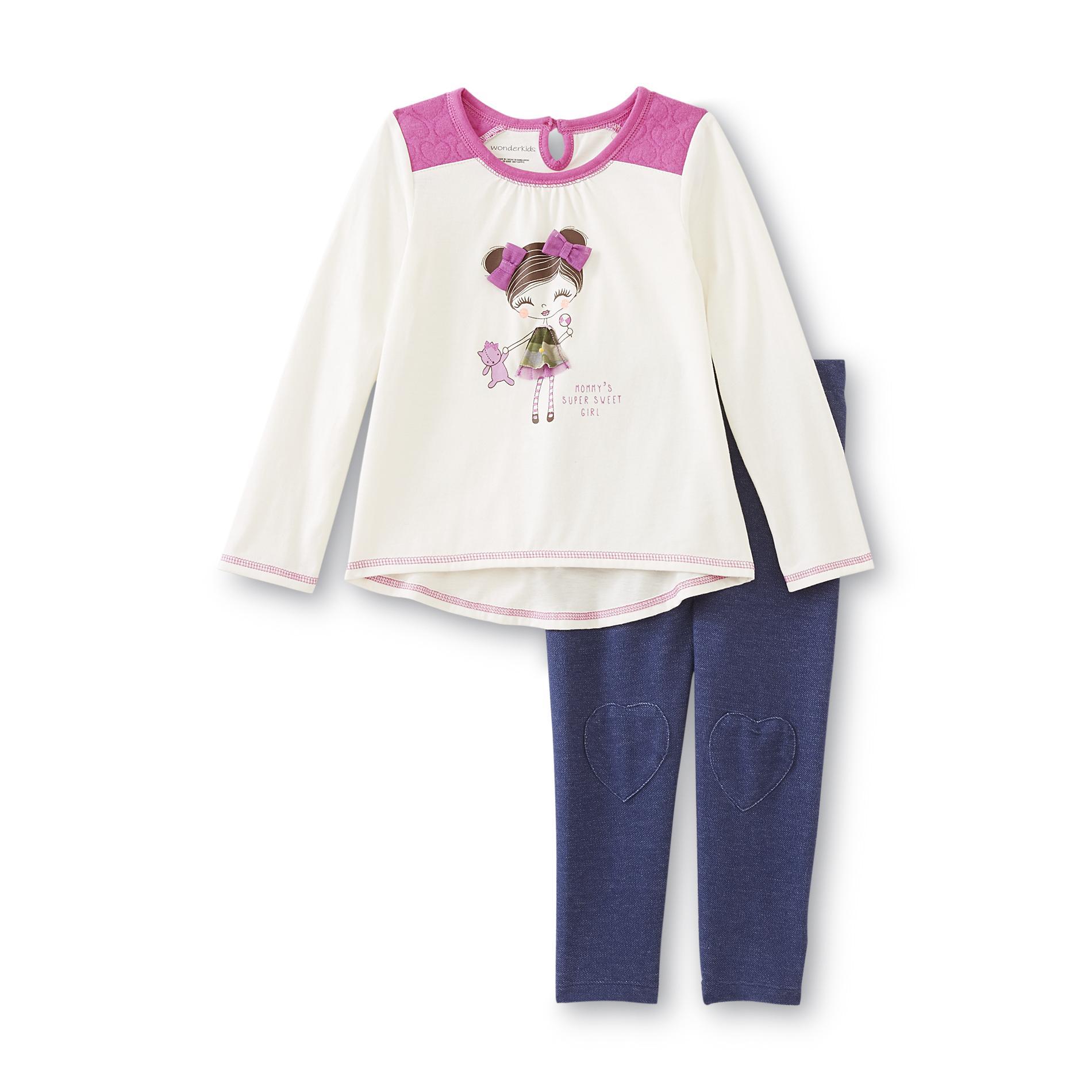 WonderKids Infant & Toddler Girl's Graphic Top & Leggings