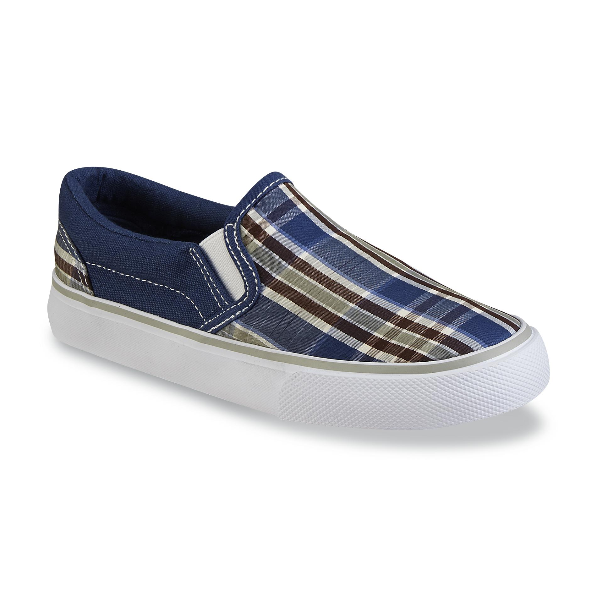 Canyon River Blues Boy's Max Navy/Green/Brown Fabric Slip-On Shoe