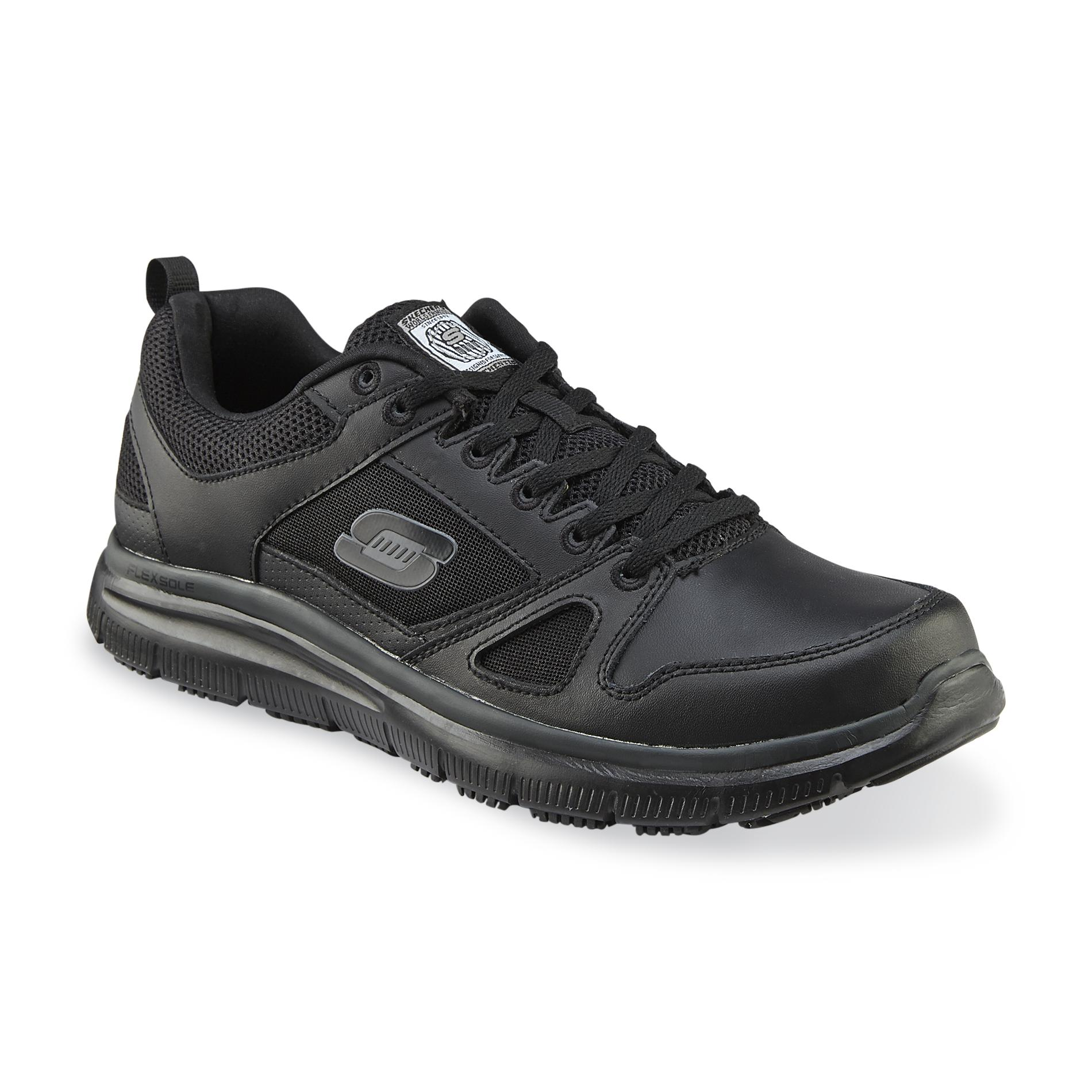 Skechers Men's Flex Advantage Black Work Shoe