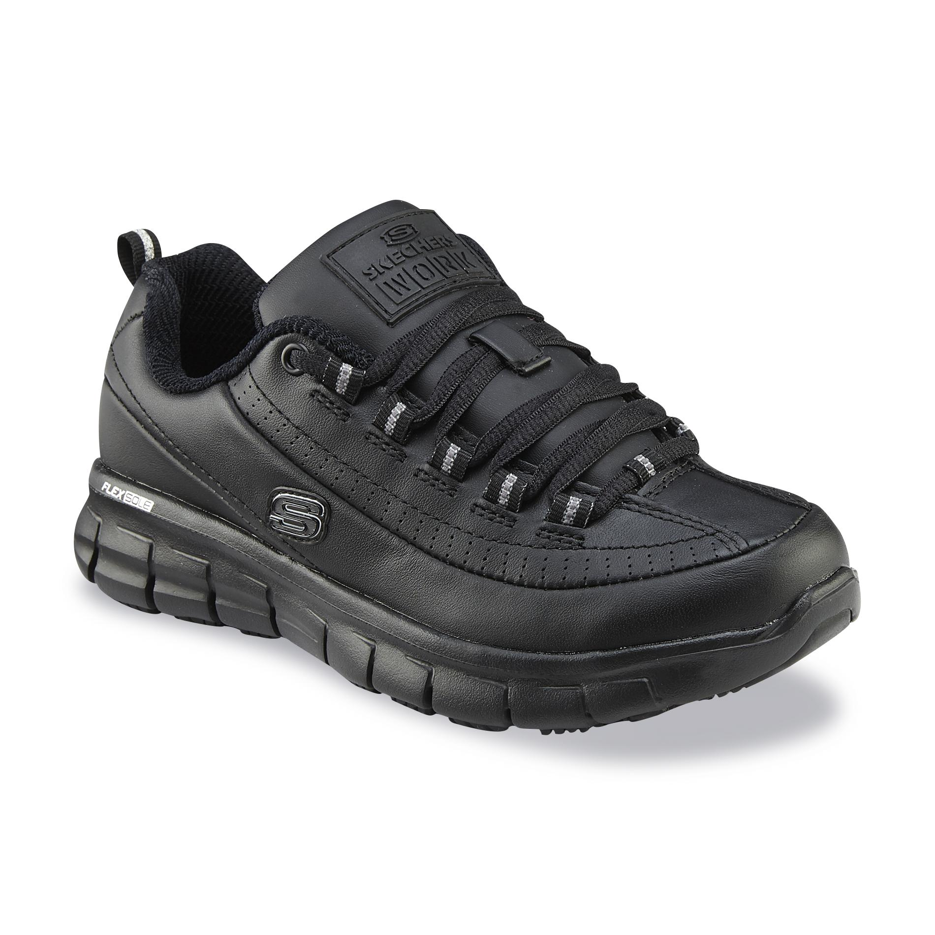 Skechers Women's Trickel Black Work Shoe - Wide Width Available