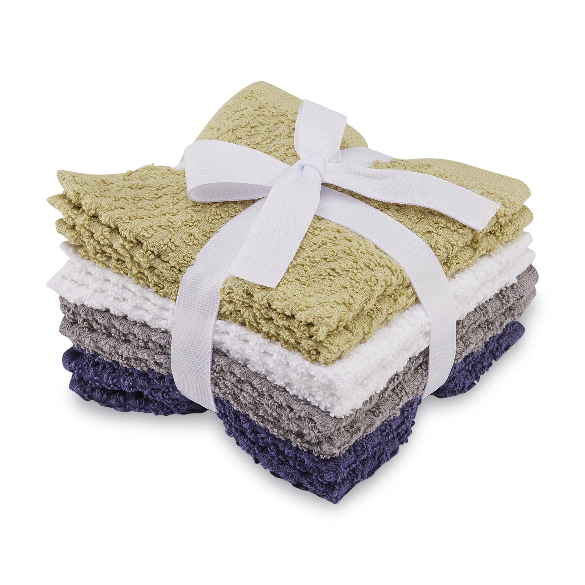 Essential Home 8-Pack Terry Cloth Washcloths
