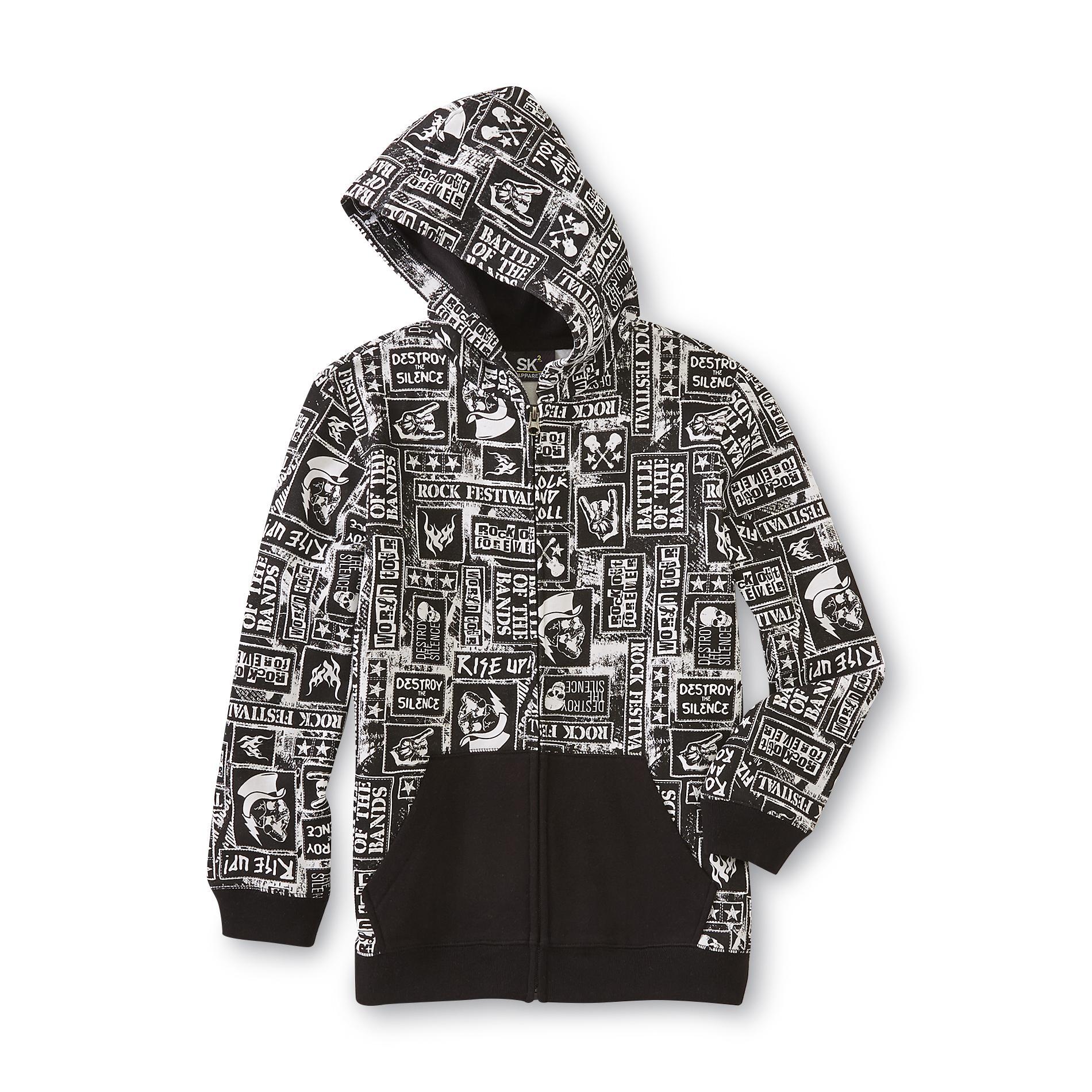 SK2 Boy's Hoodie Jacket - Rock 'N' Roll Print PartNumber: 049VA83307512P MfgPartNumber: BF5SK71412BB