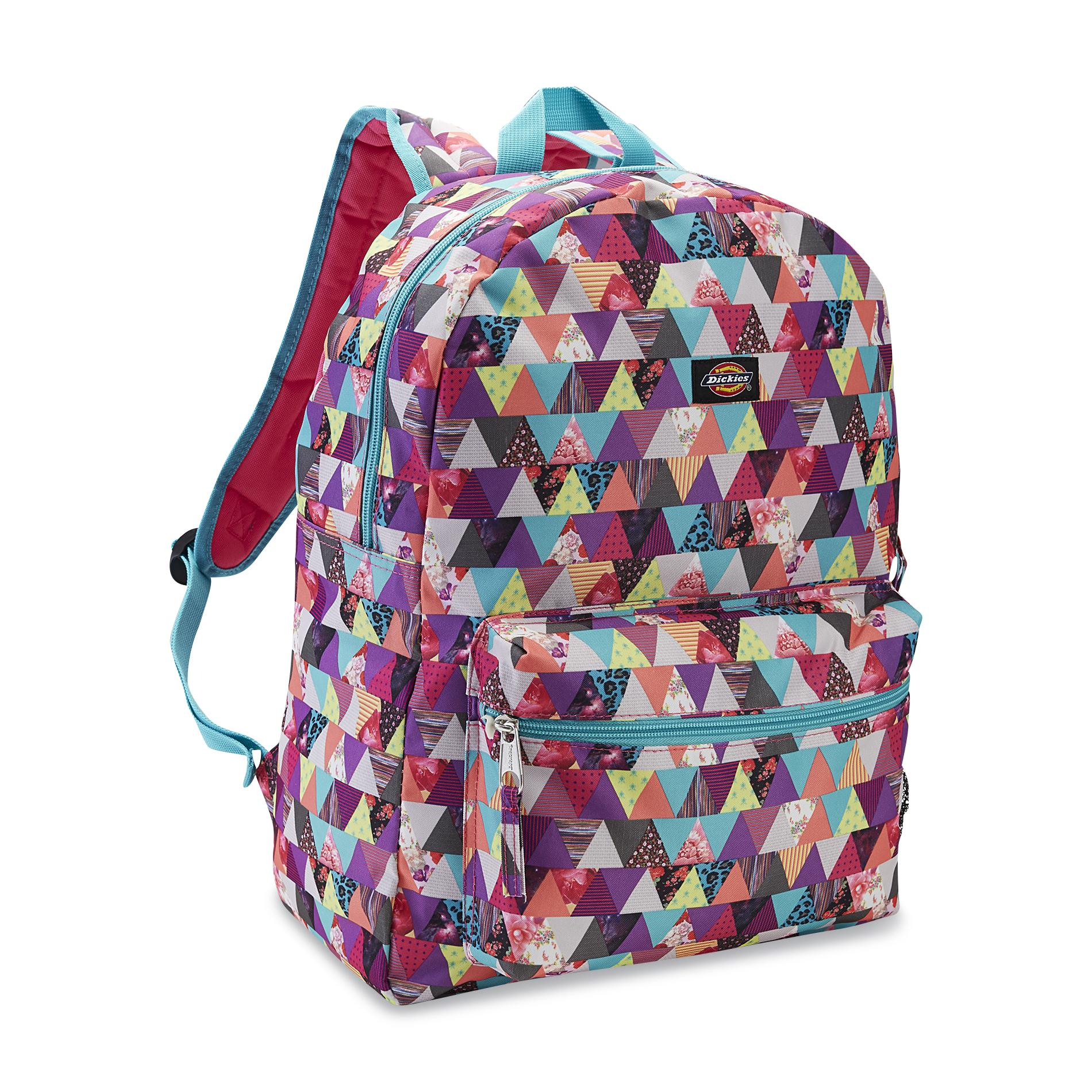 Dickies Girl's Student Backpack - Patchwork Triangle