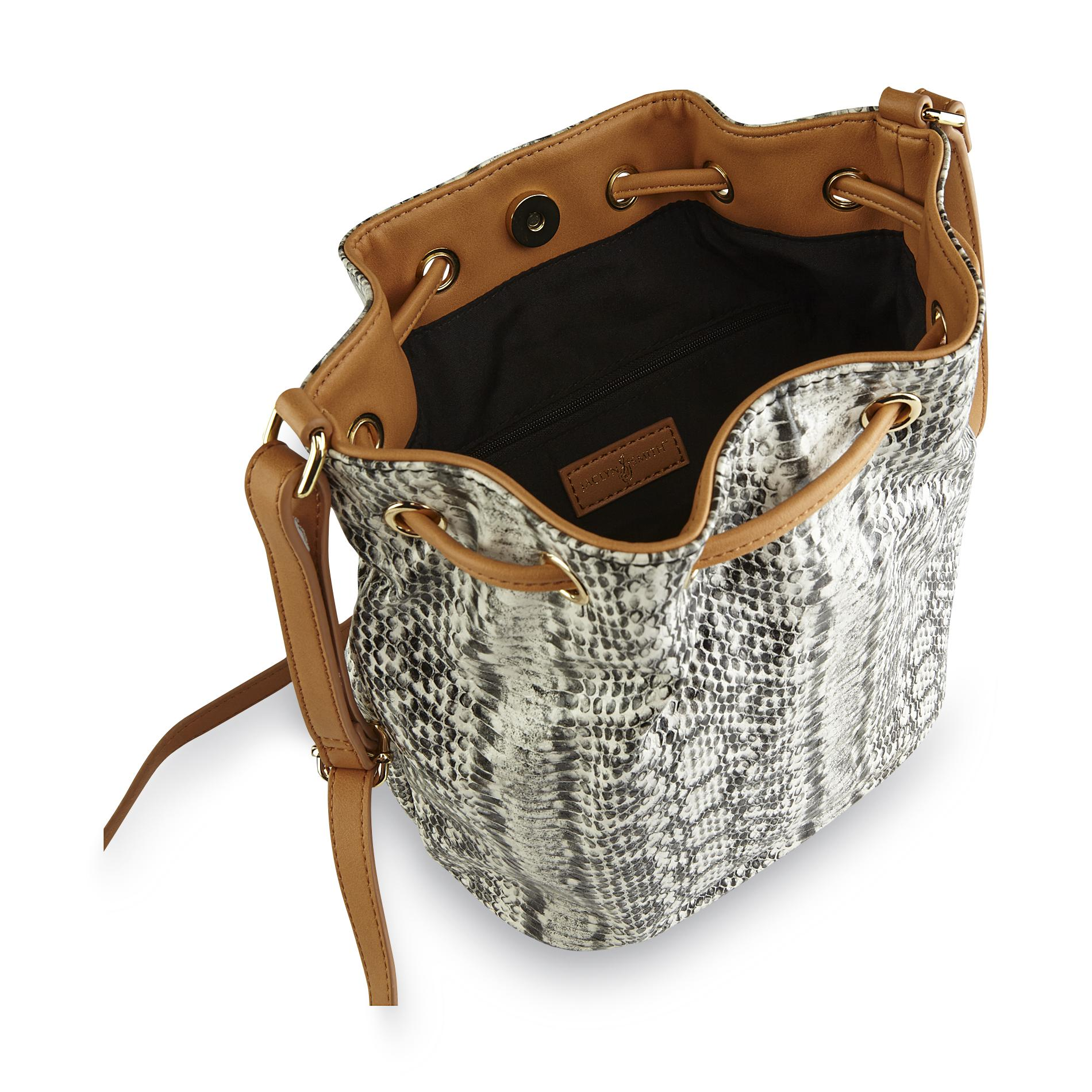 Jaclyn Smith Women's Bucket Bag - Snakeskin Print