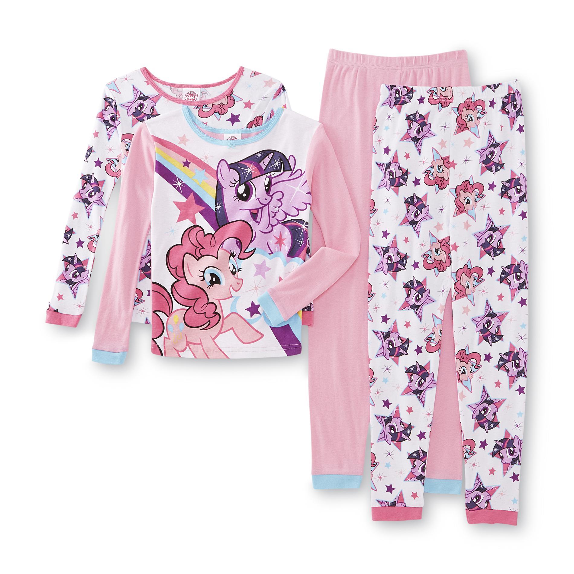 My Little Pony Girl's 2-Pairs Pajama Shirts & Pants