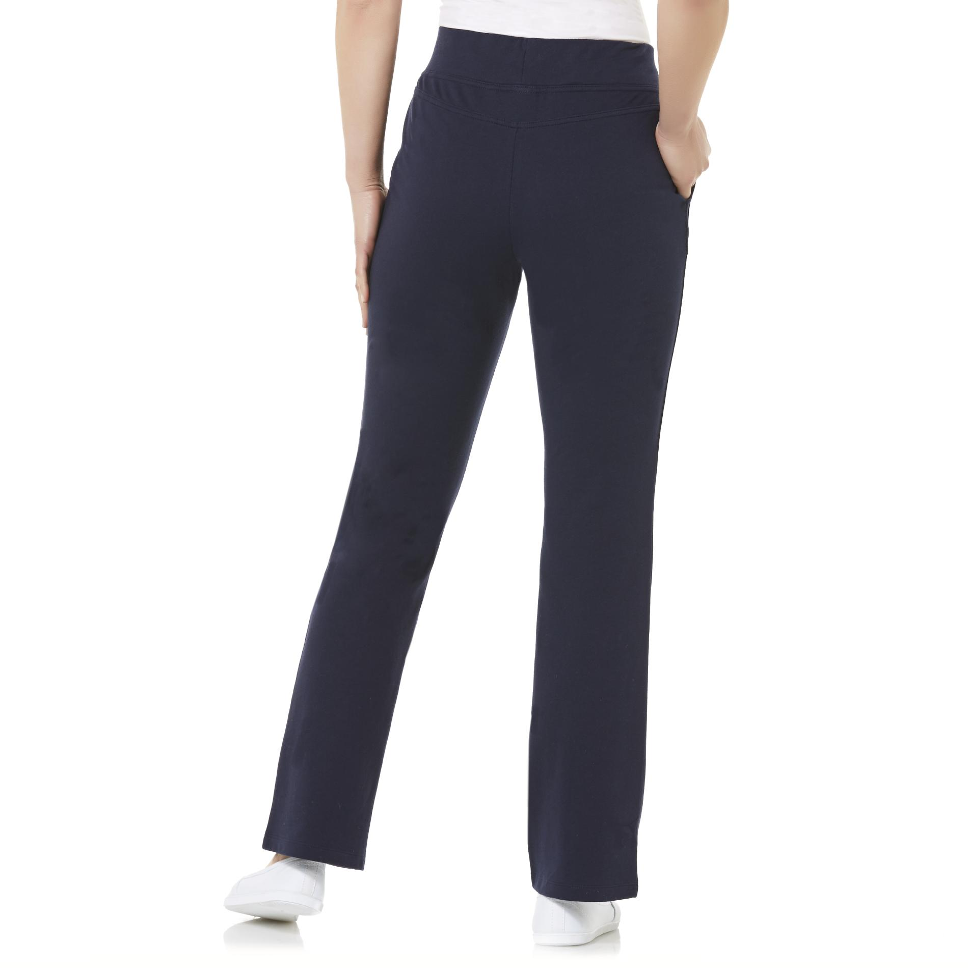 Basic Editions Women's Wide Leg Knit Pants
