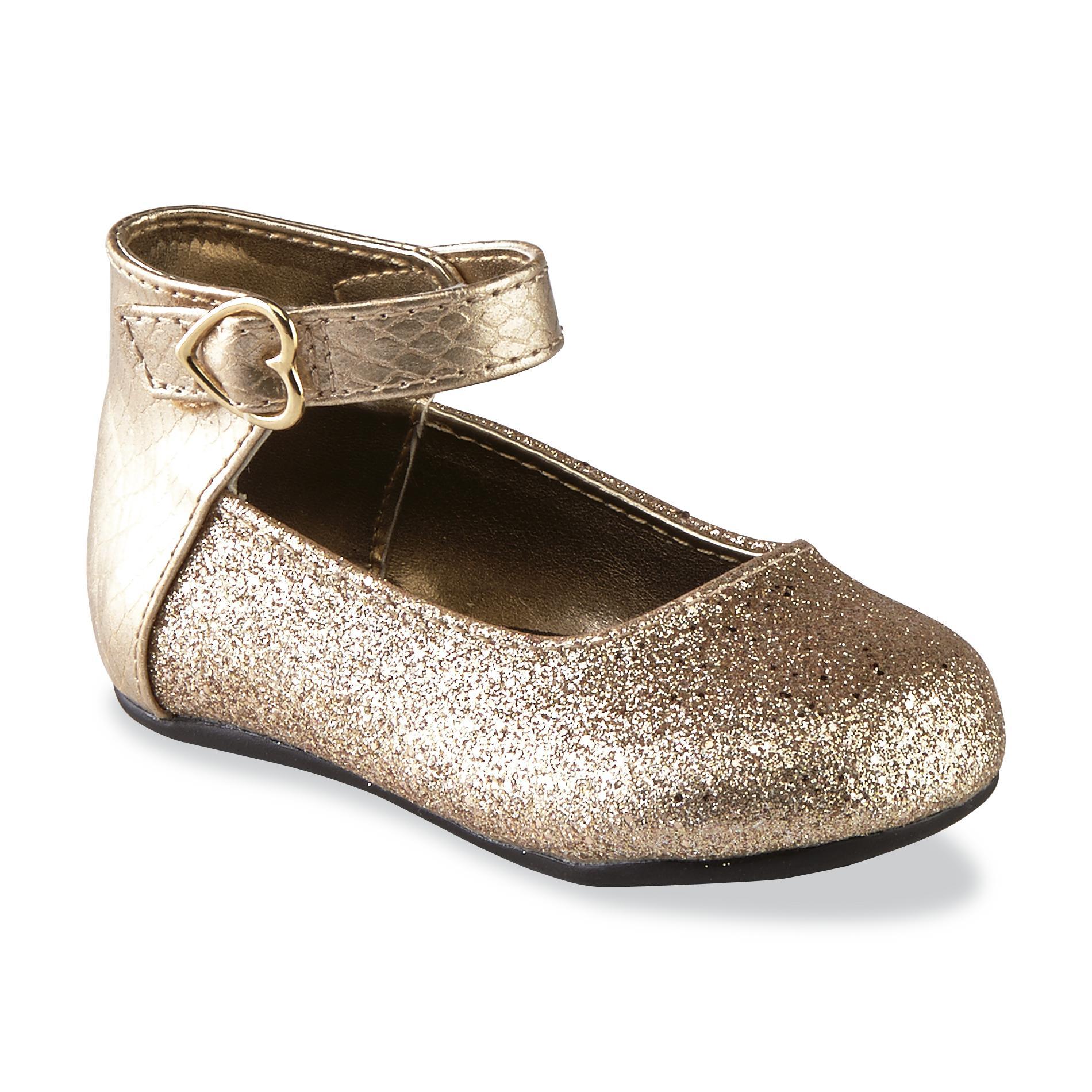 Natural Steps Toddler Girl's Rain Gold/Glitter Ballet Flat