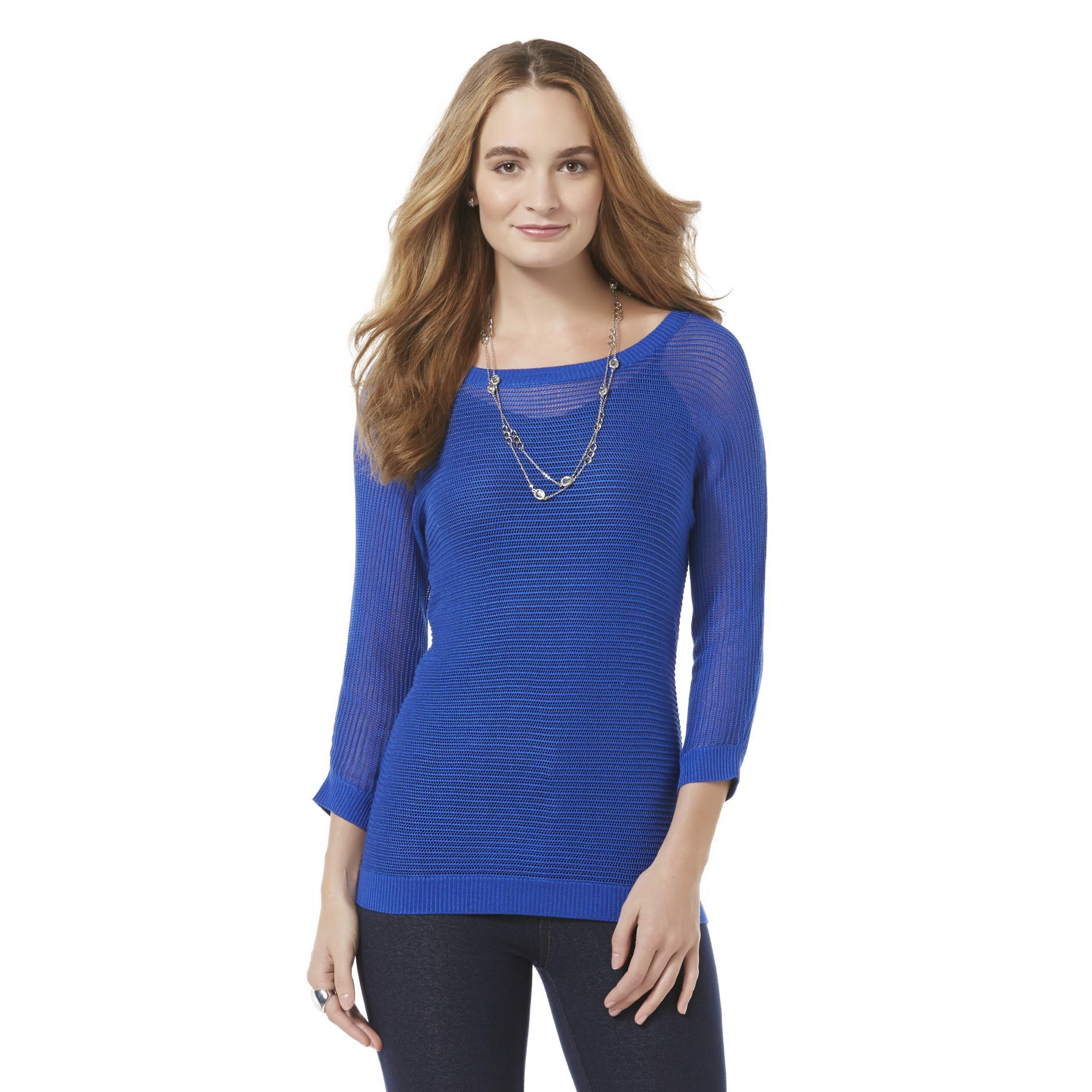 Attention Women's Three-Quarter Sleeve Sweater