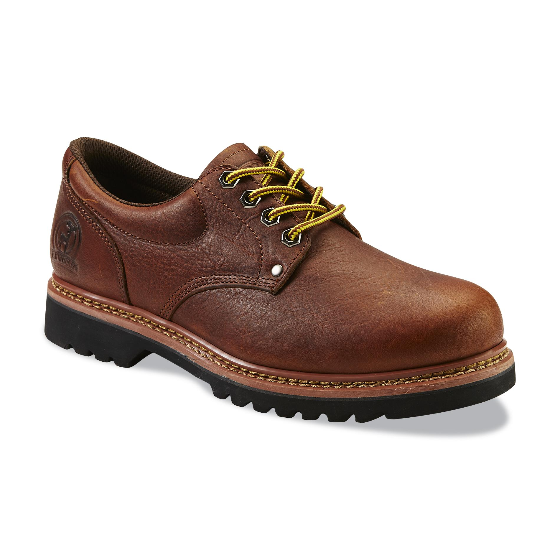 Elk Woods Men's Brown Oxford Work Shoe