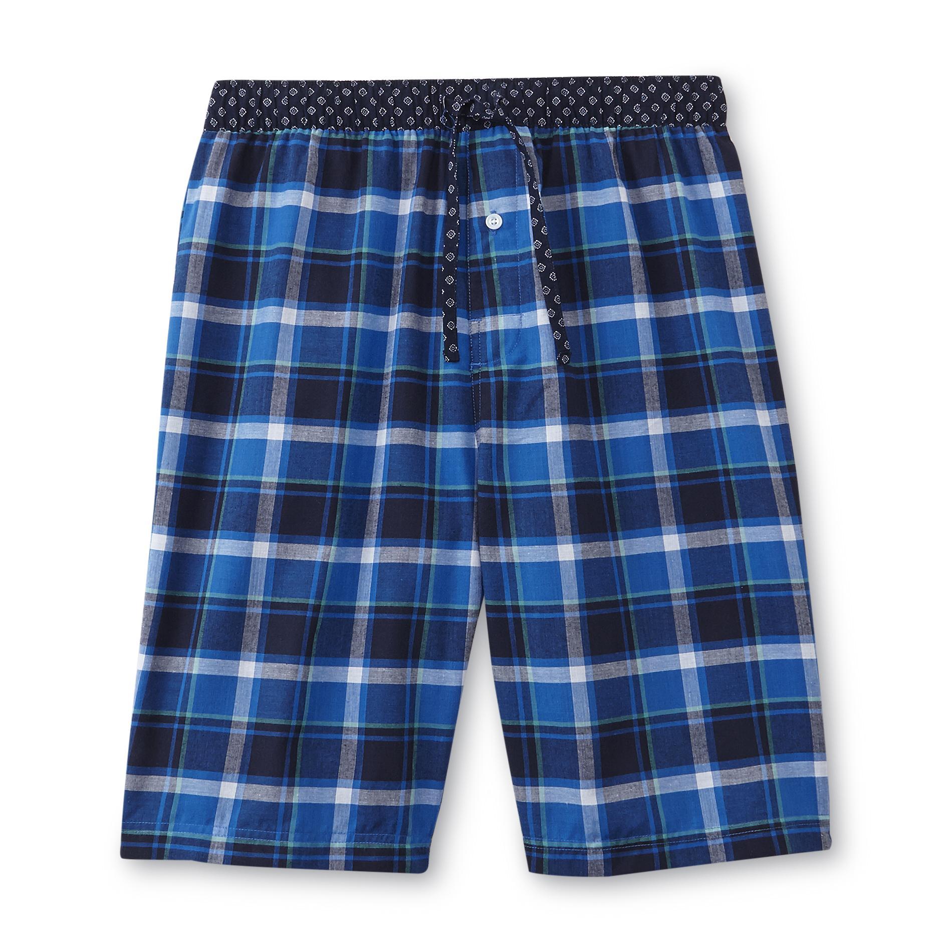 Men's Poplin Pajama Shorts - Plaid