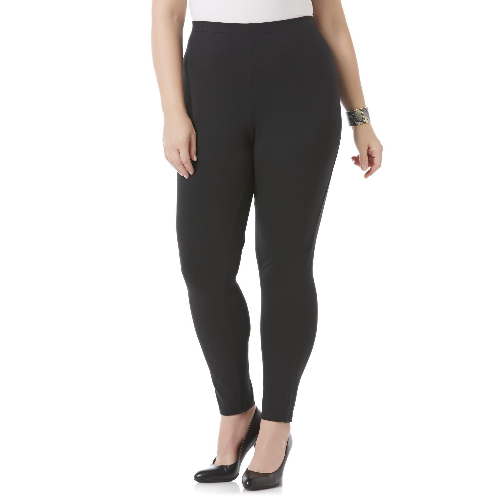 Jaclyn Smith Women's Plus Knit Pants