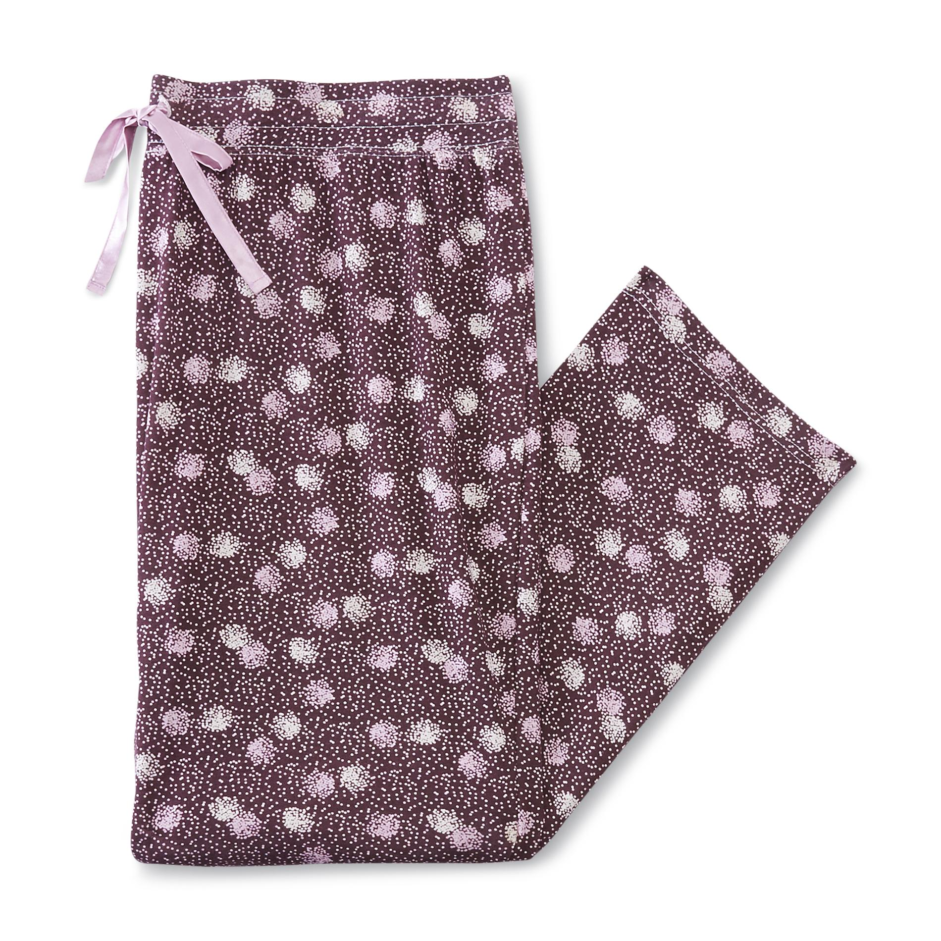 Jaclyn Smith Women's Plus Pajama Pants - Dots