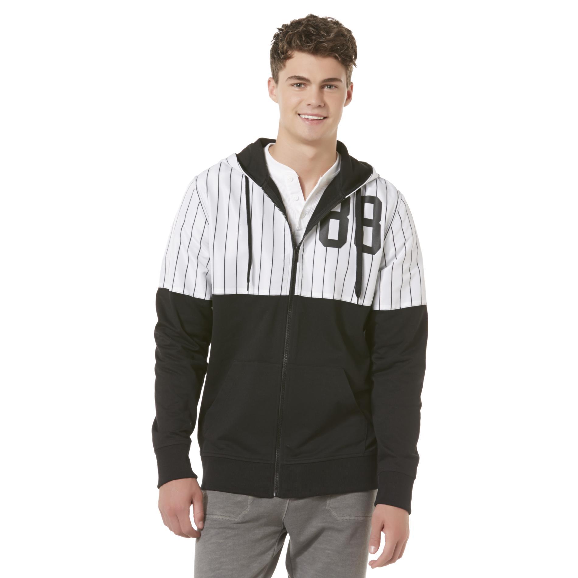 Nope Men's Windbreaker Hoodie Jacket - Striped