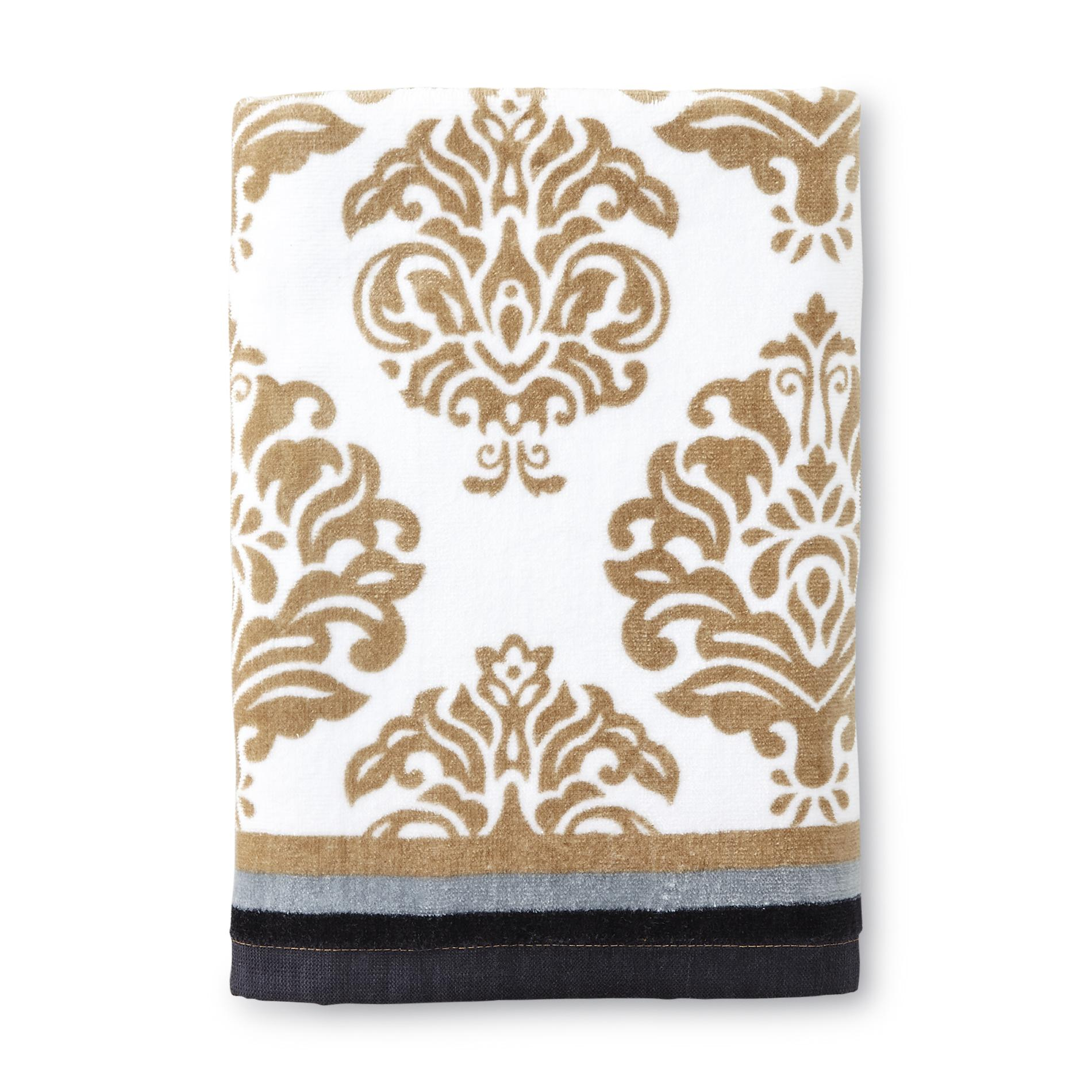 Essential Home Bath Towel - Damask Print