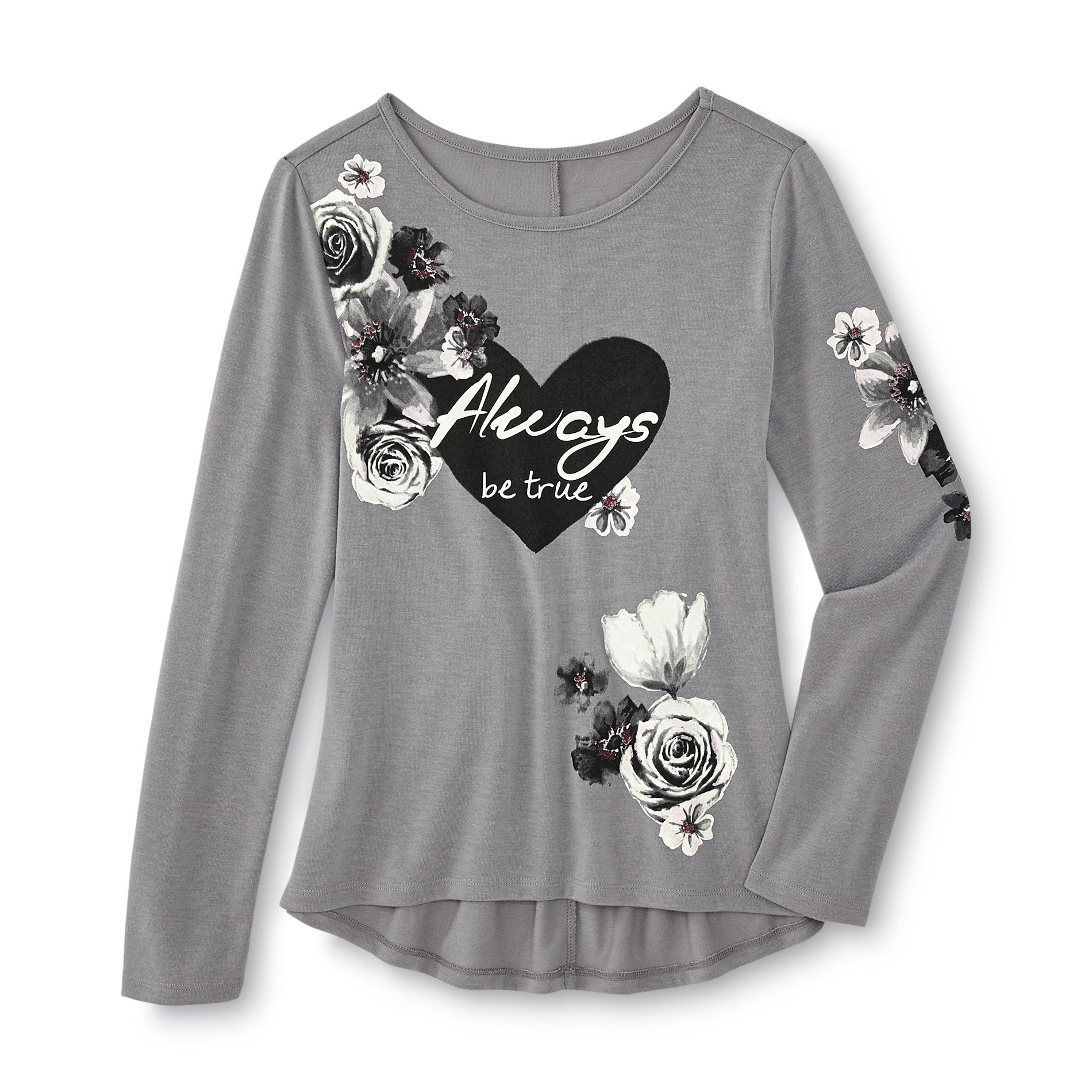 Girl's Long-Sleeve Top - Floral