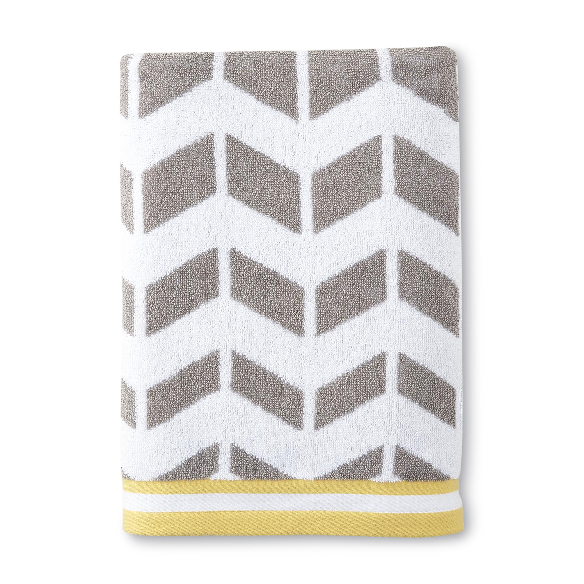 Essential Home Bath Towel - Chevron Striped