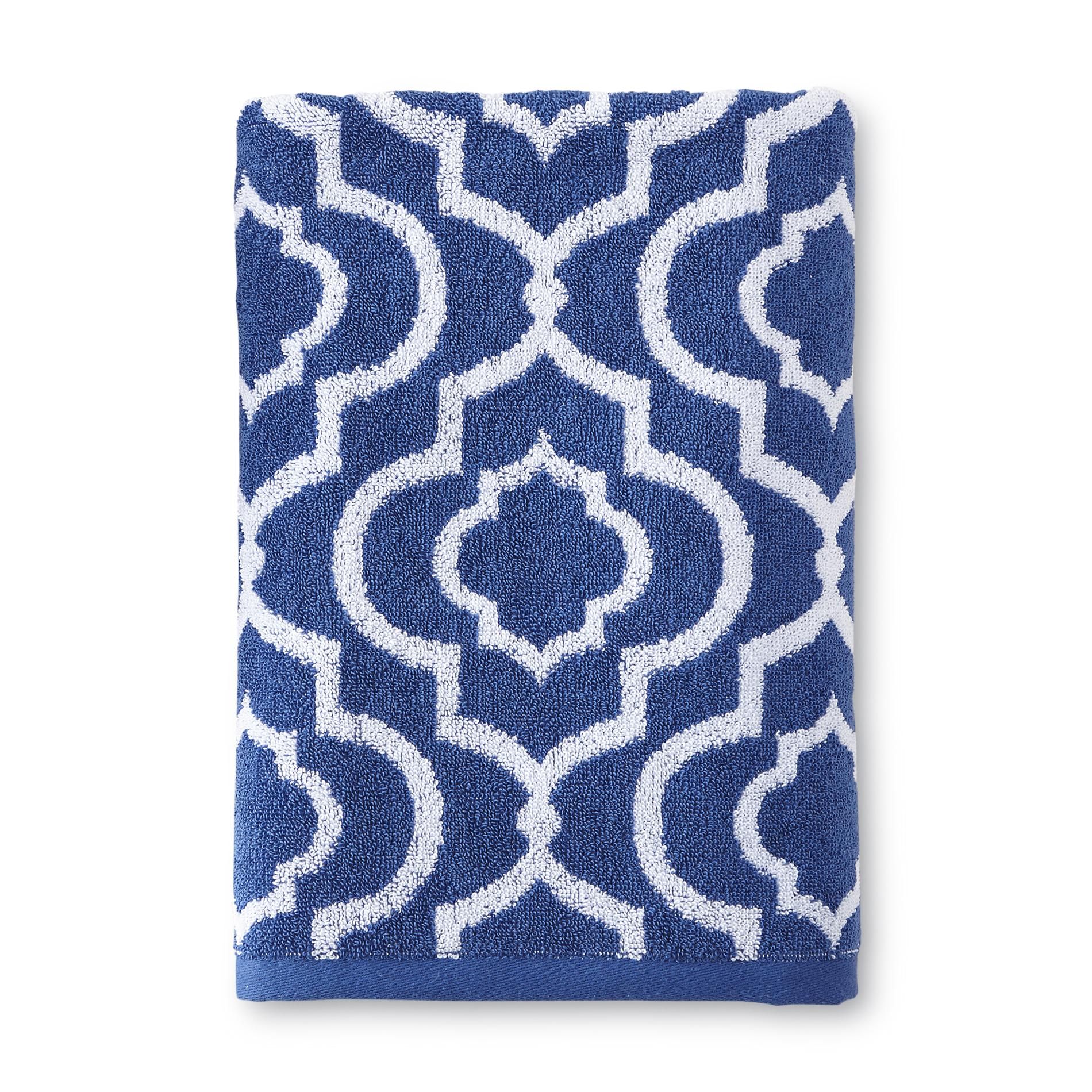 Essential Home Bath Towel - Trellis Print