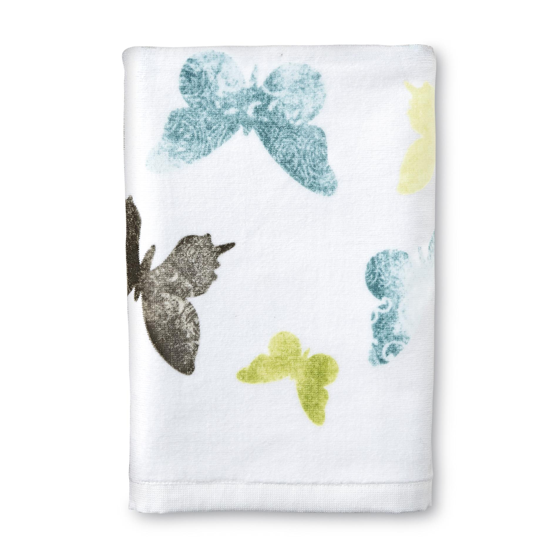 Essential Home Bath Towel - Butterfly Print
