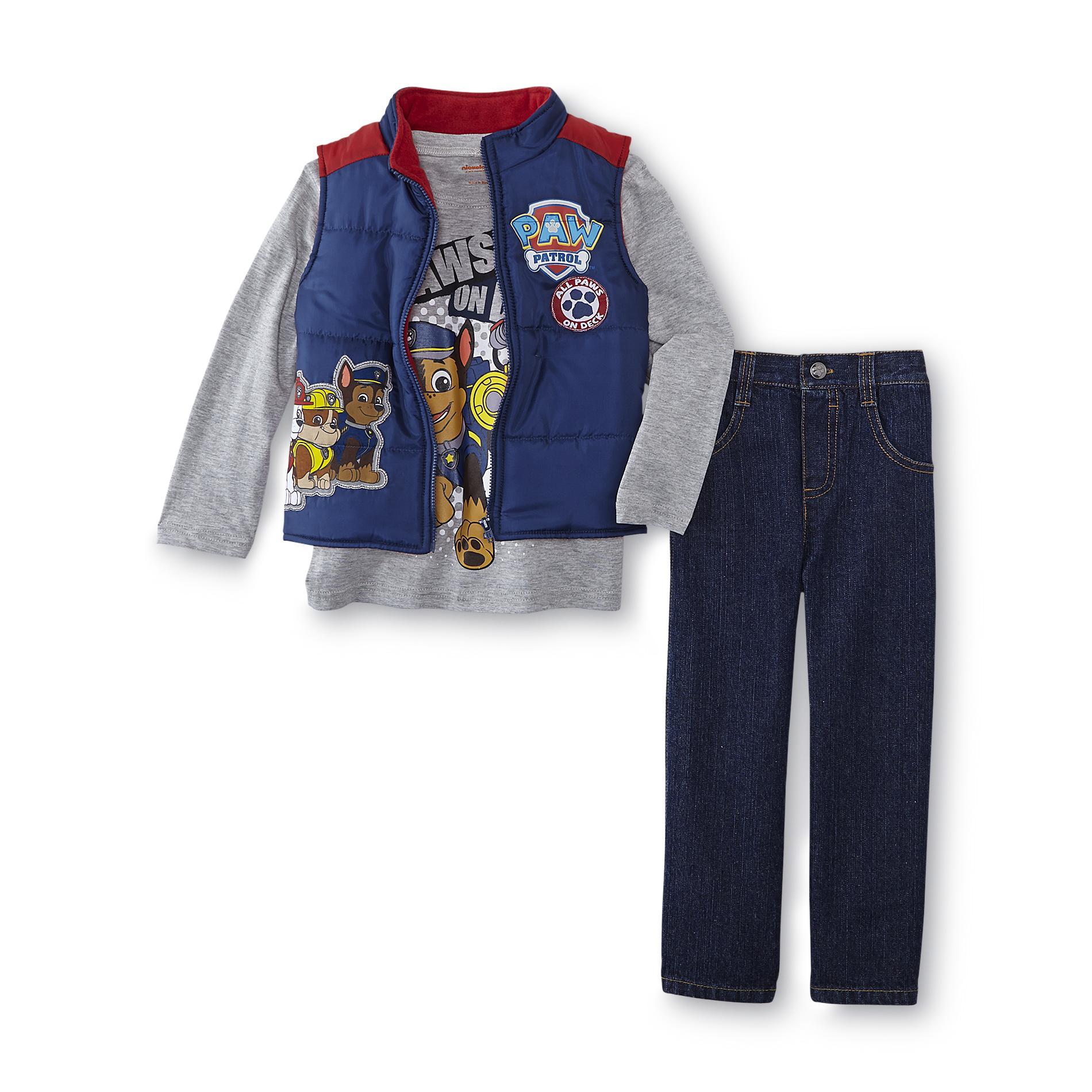Nickelodeon Paw Patrol Toddler Boy S Puffer Vest T Shirt