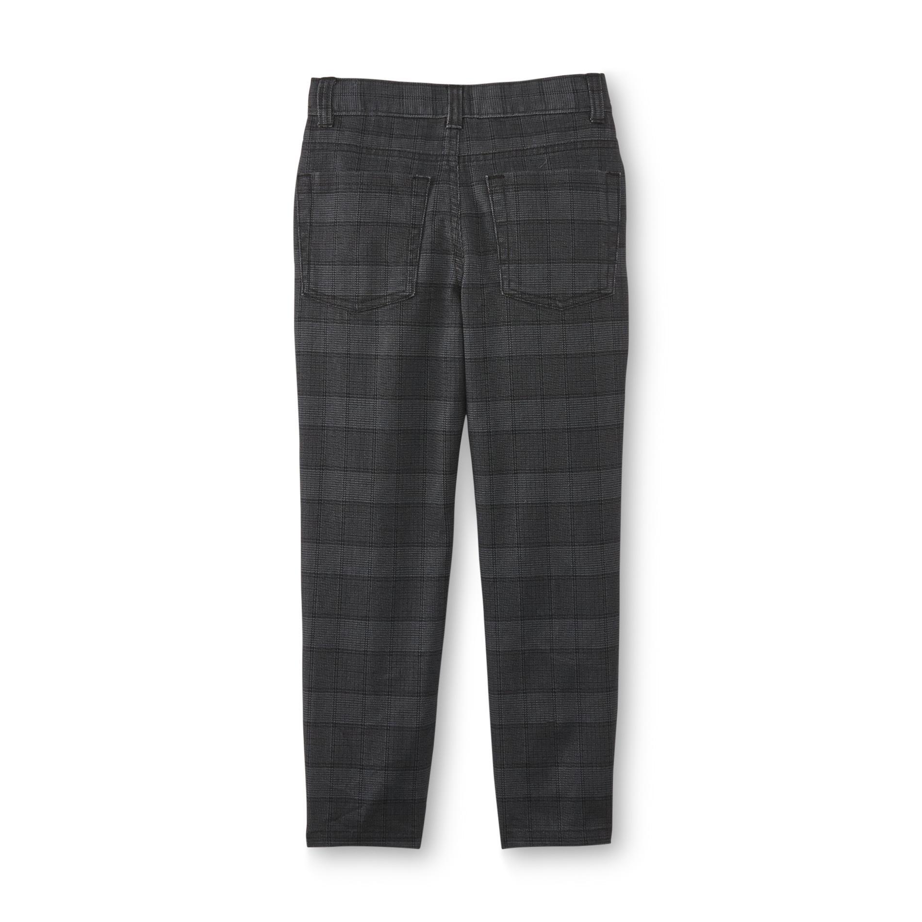 Toughskins Boy's Twill Pants - Plaid