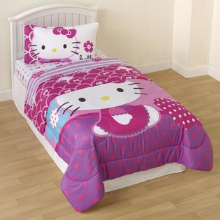 Sanrio Hello Kitty Reversible Comforter Home Bed Bath Bedding C