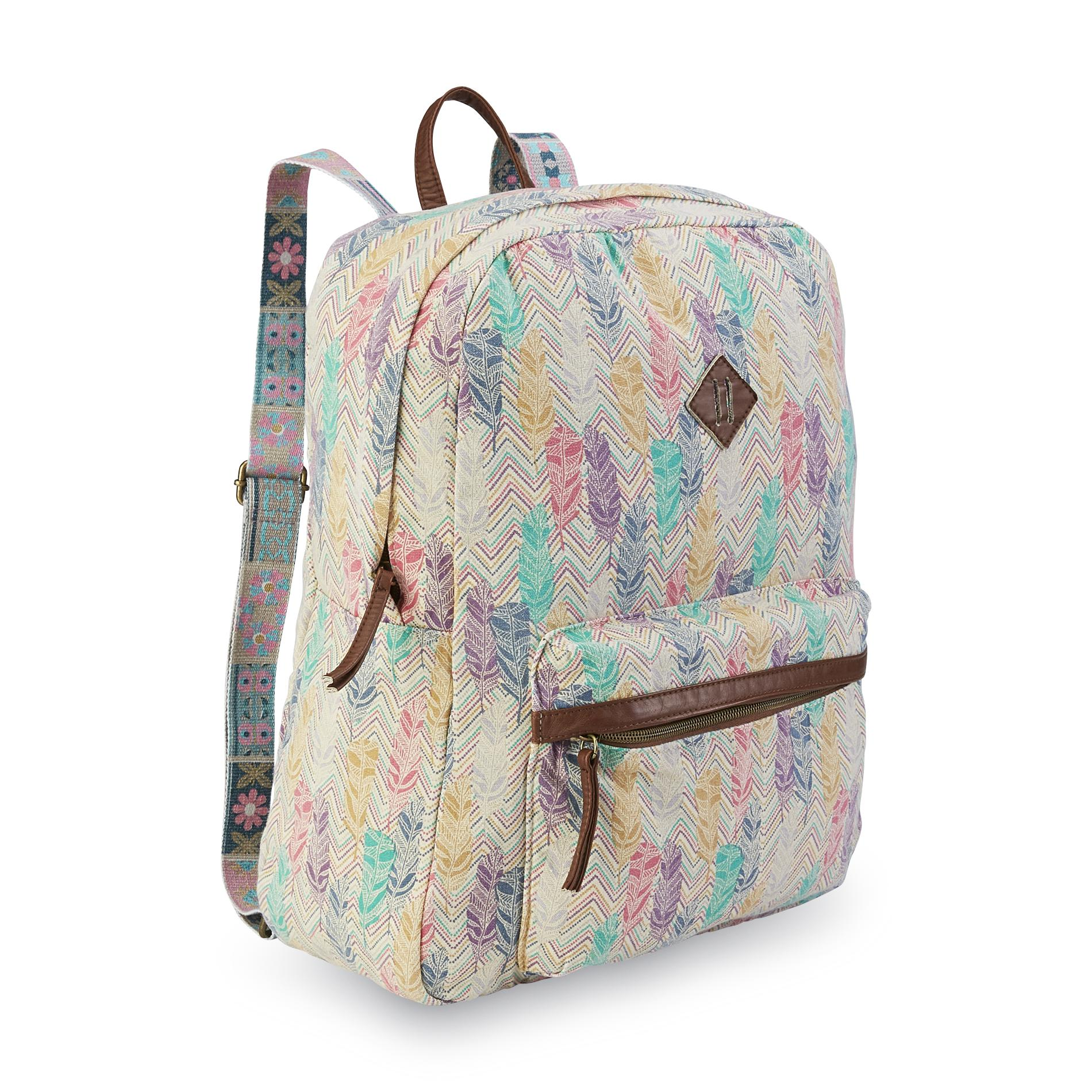 Bongo Junior's Canvas Backpack - Feathers