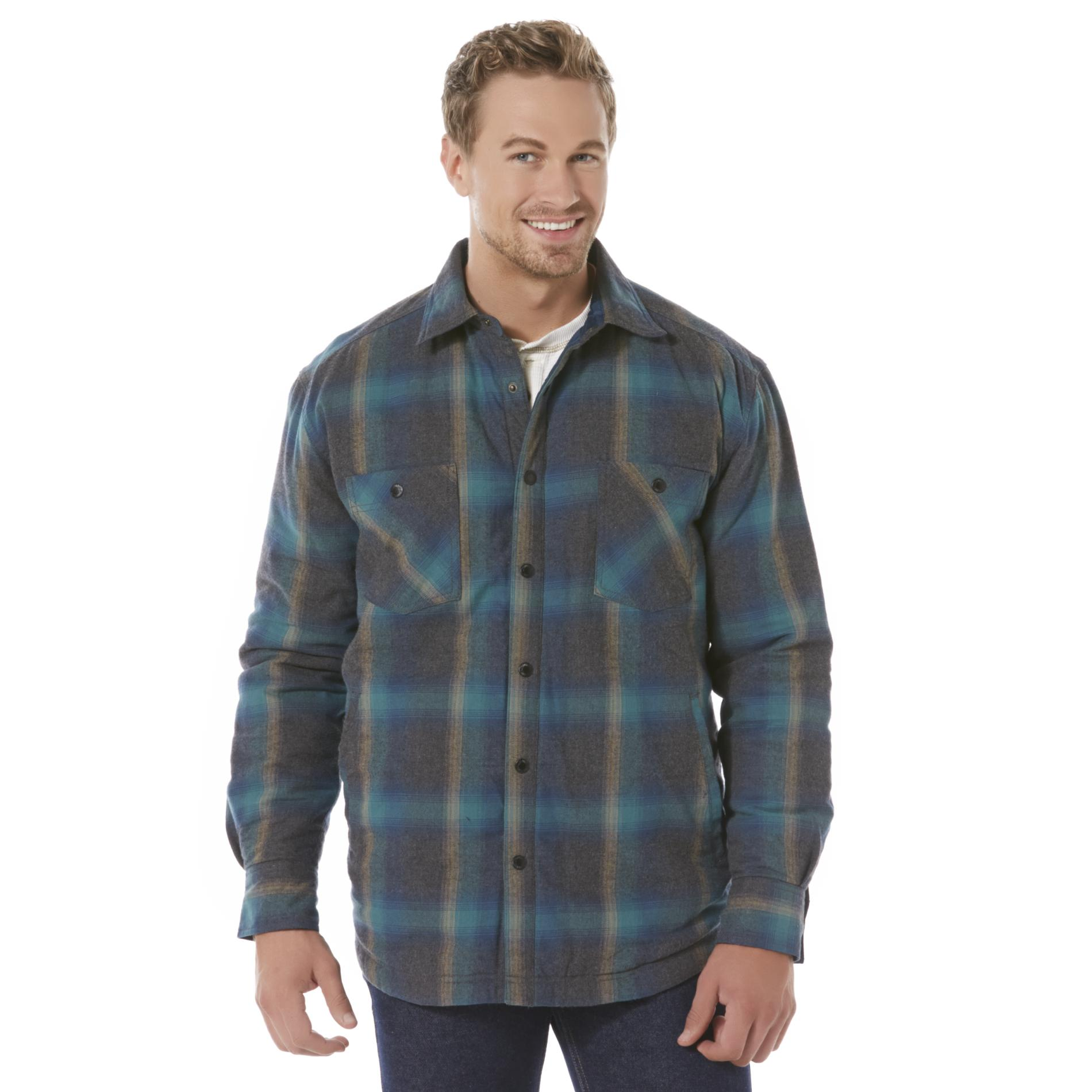 Outdoor Life Men's Reversible Flannel Shirt Jacket - Plaid