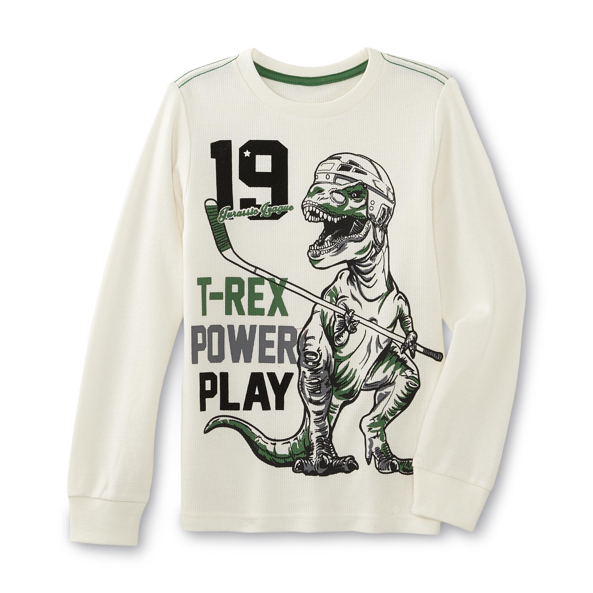 Toughskins Boy's Thermal Shirt - T-Rex Power Play