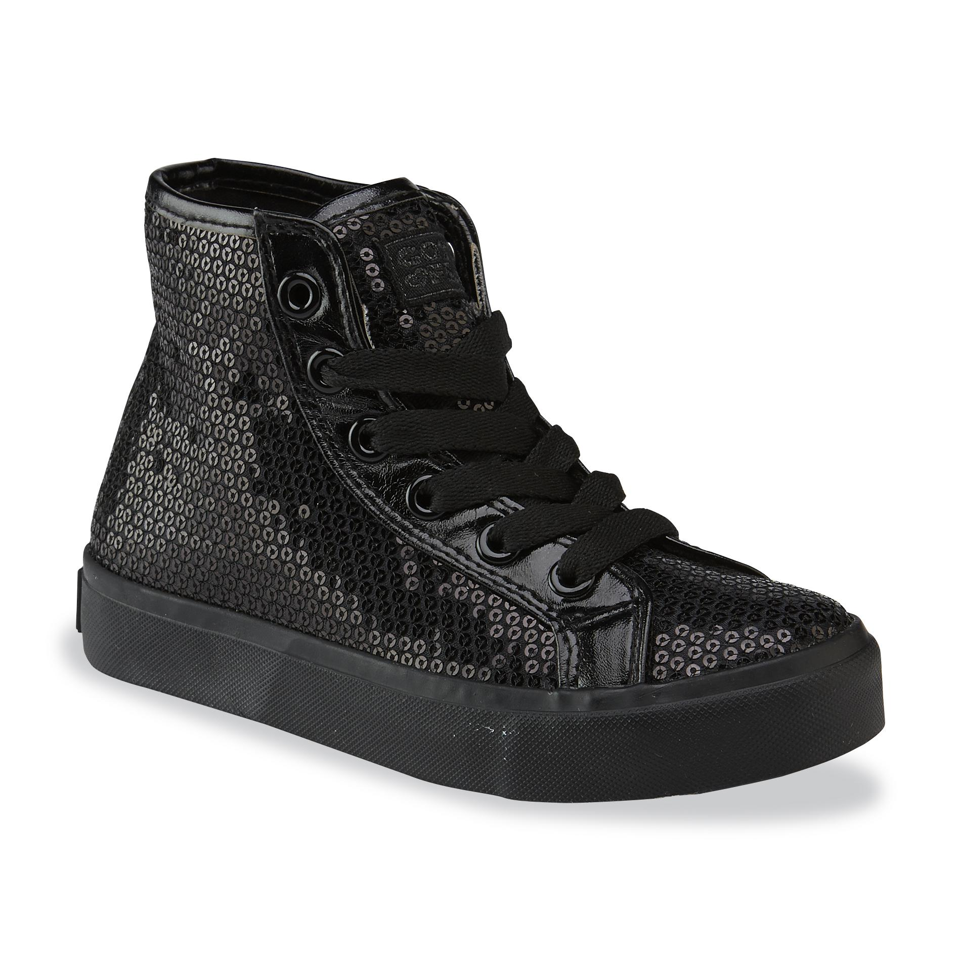 Make a statement in these high top lace-up sequin sneakers! Features comfortable cushioned insoles and ventilated arches to keep feet cool. Perfect for performances or street wear!/5(5).