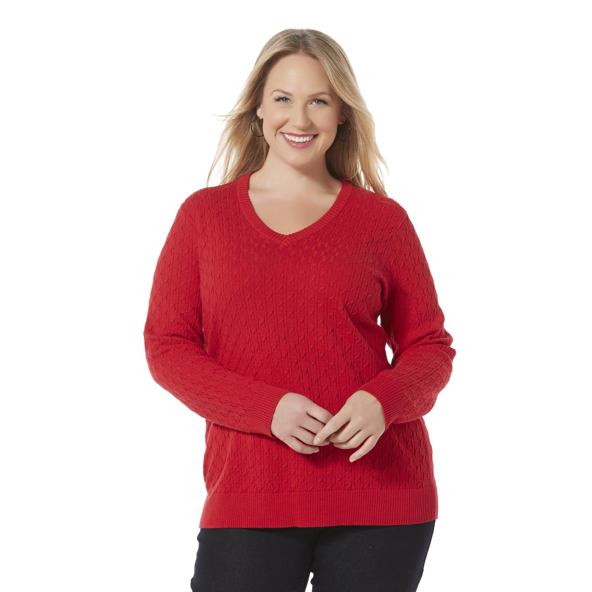 Basic Editions Women's Plus Sweater