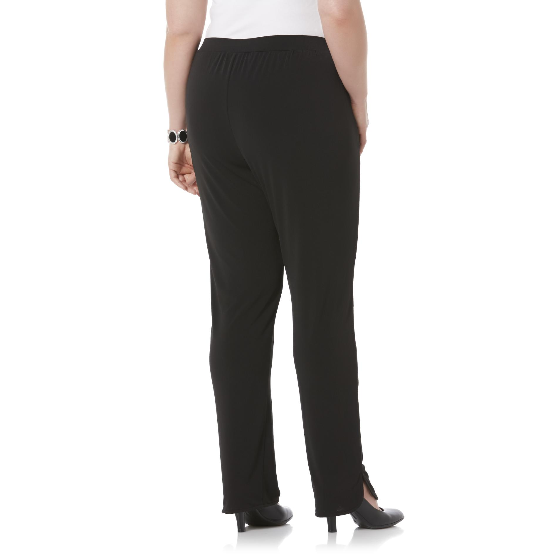 Jaclyn Smith Women's Plus Slinky Knit Pants