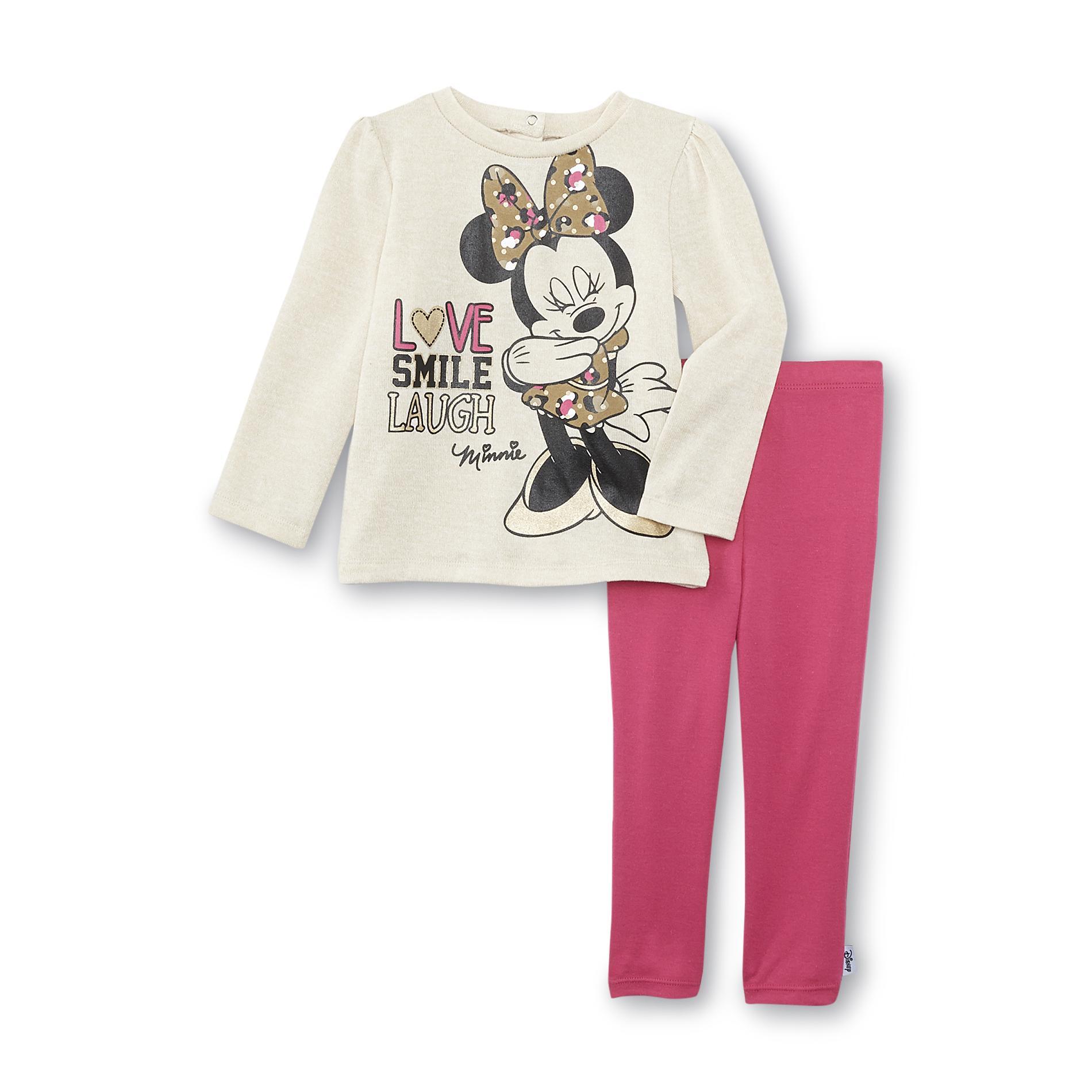 Disney Baby Minnie Mouse Newborn & Infant Girl's Sweater & Leggings - Love