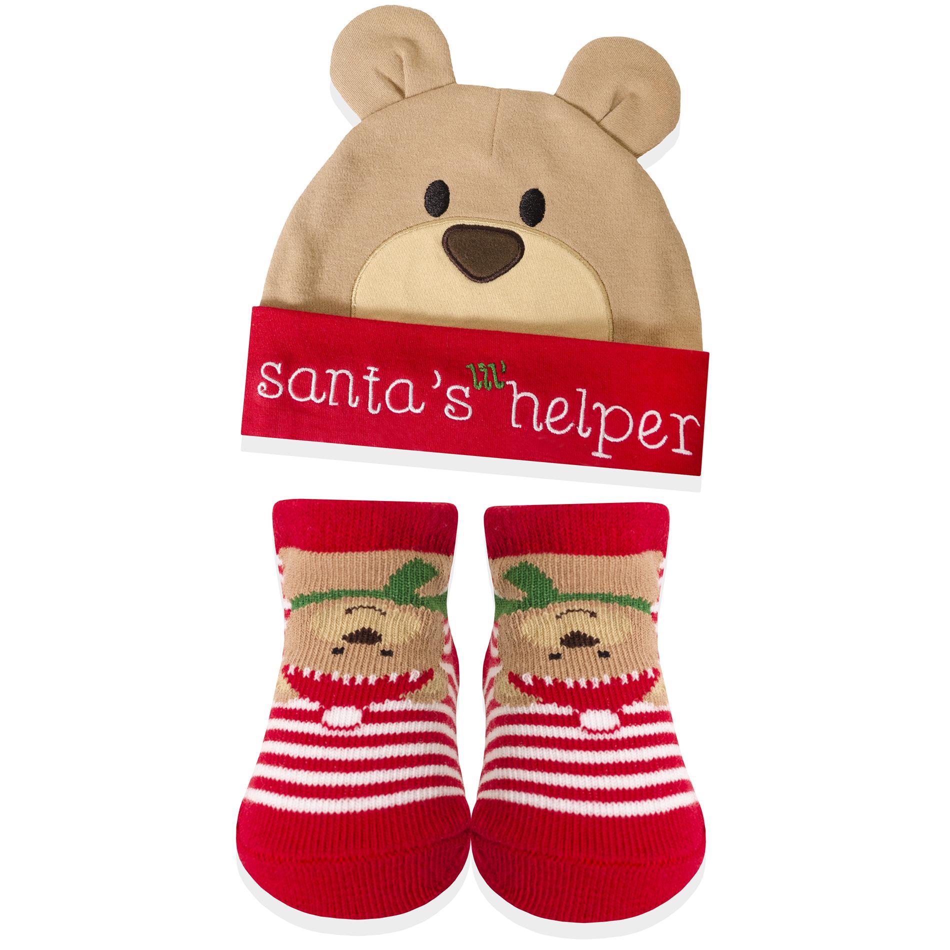 Baby Essentials Infant s Christmas Hat   Socks b5941d9b289