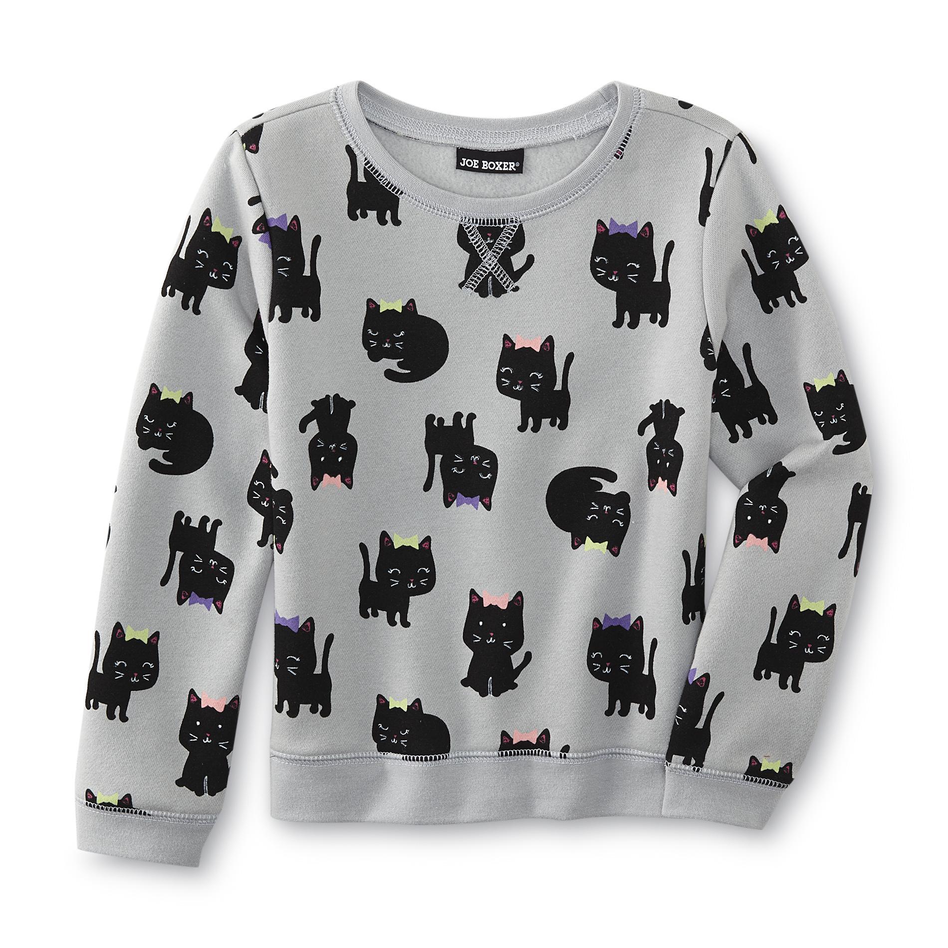 Infant & Toddler Girl's Graphic Sweatshirt - Kittens