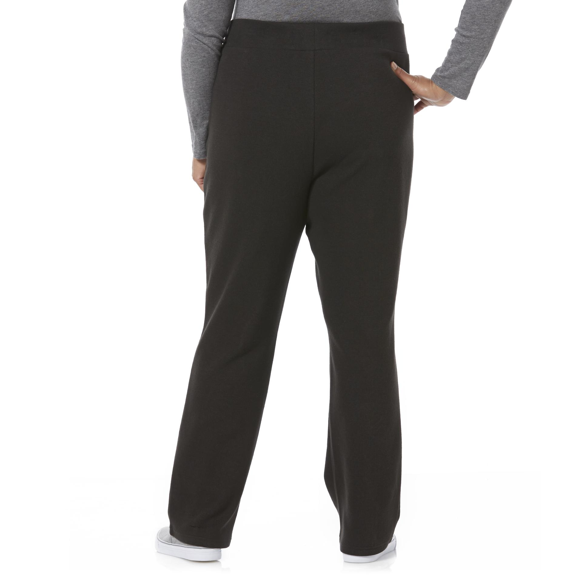 Laura Scott Women's Plus Rib Knit Pants