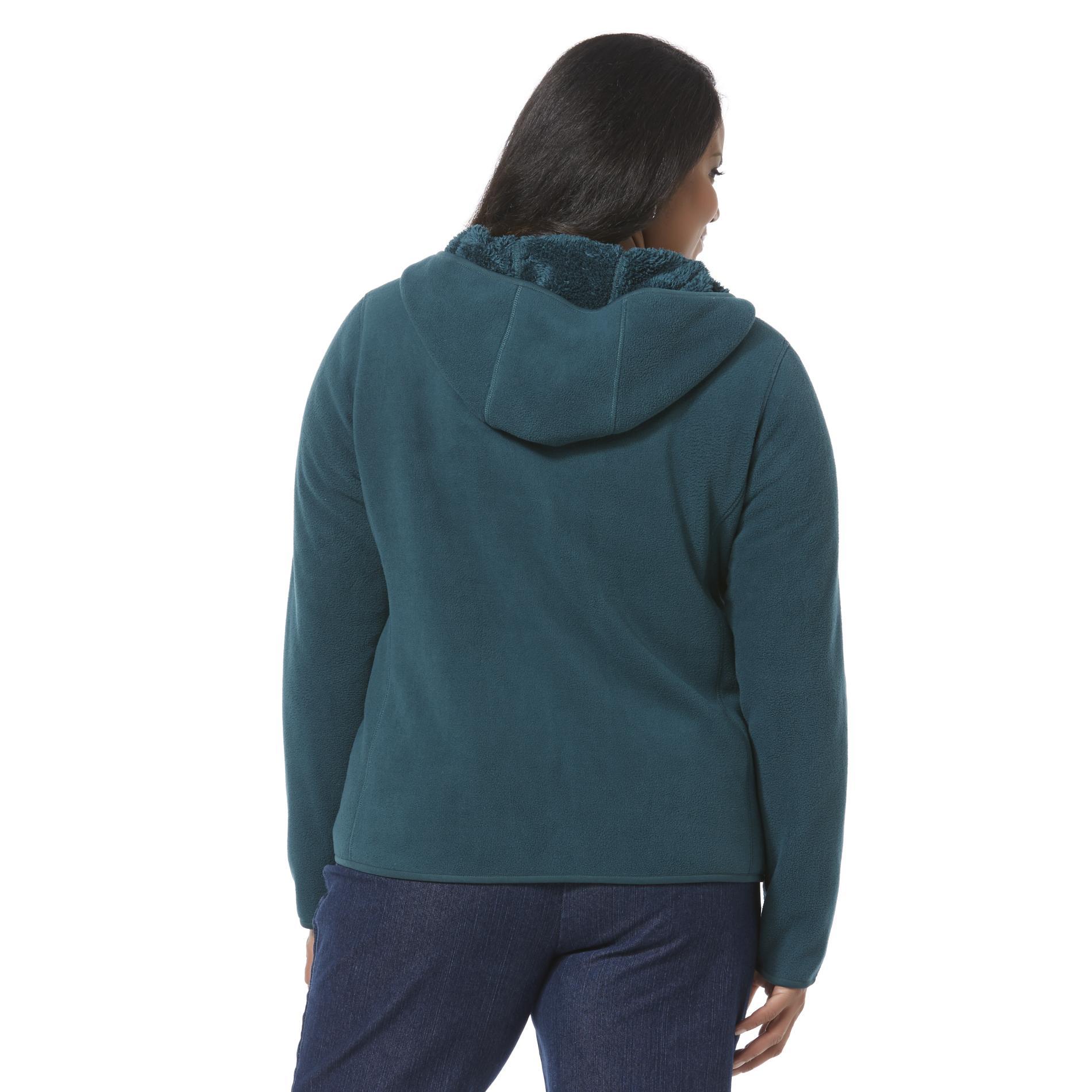 Laura Scott Women's Plus Reversible Fleece Hoodie Jacket
