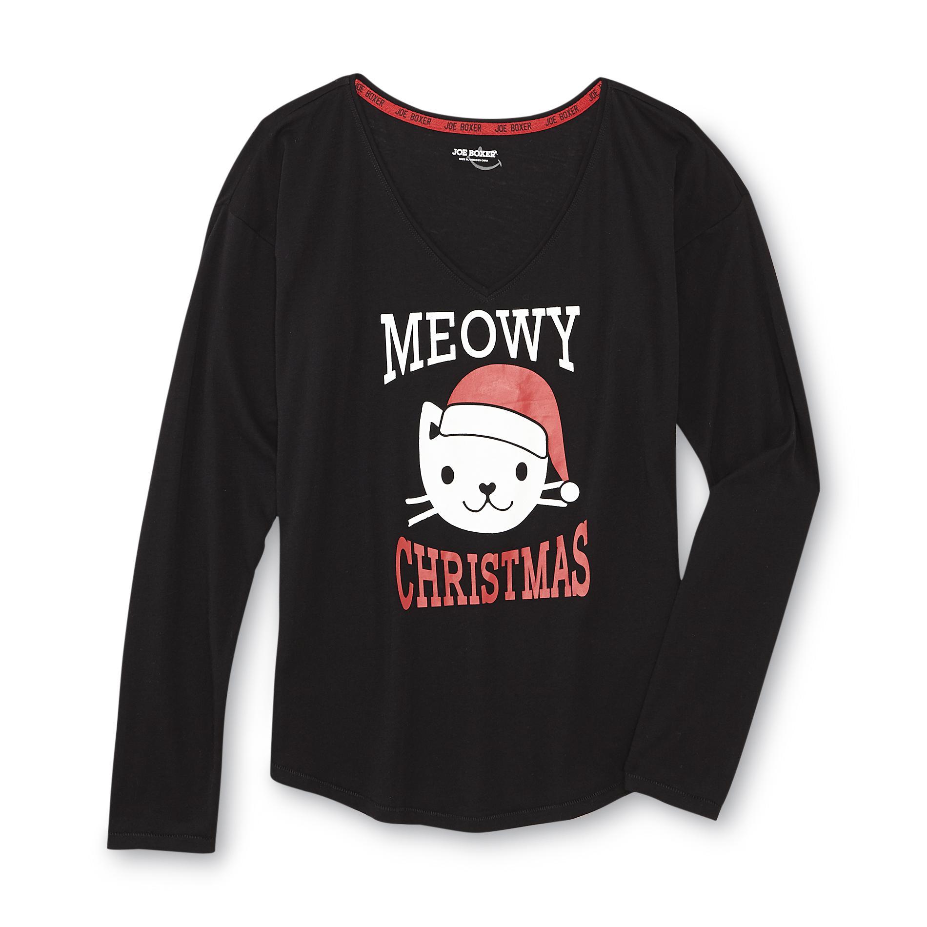 Joe Boxer Junior's Graphic T-Shirt - Meowy Christmas