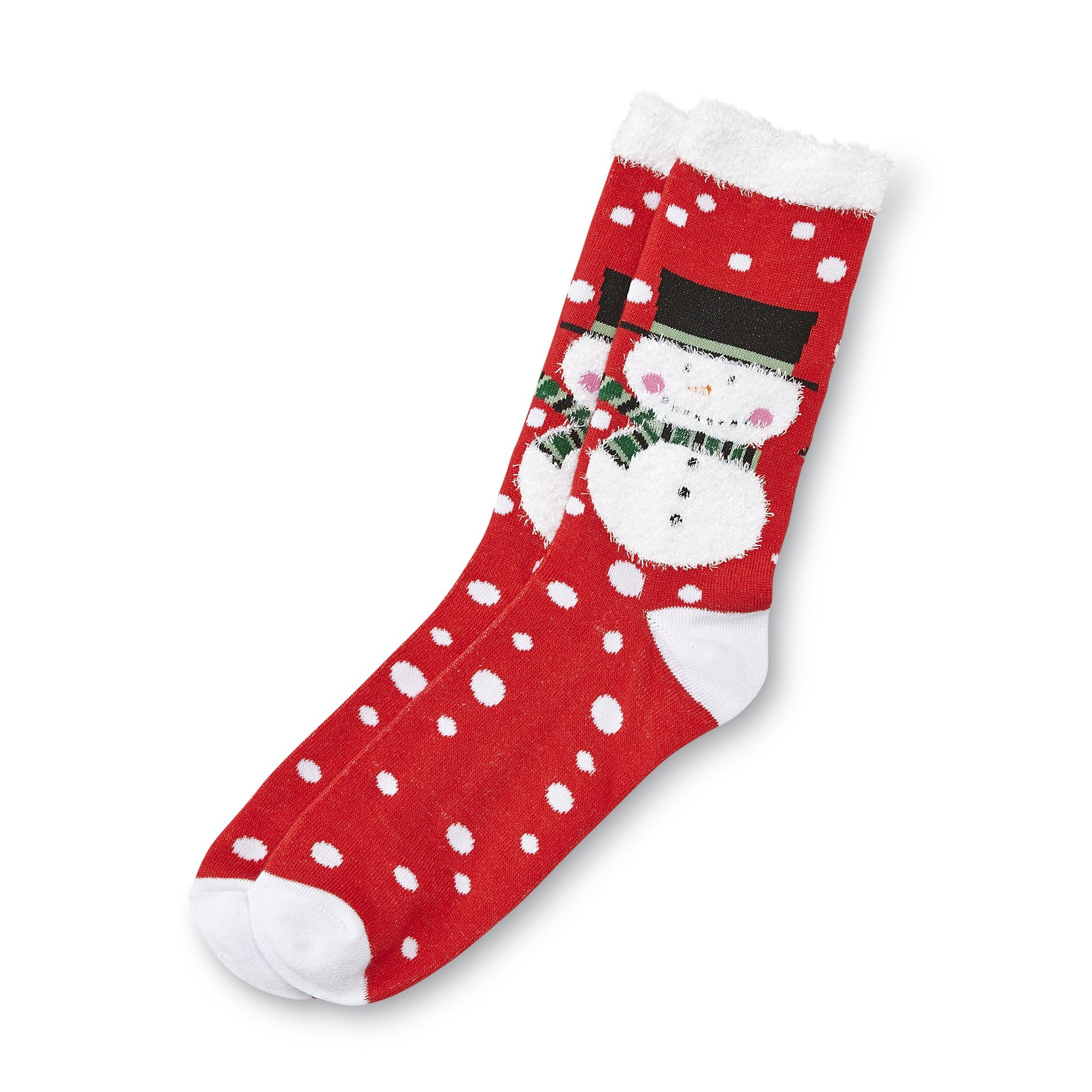 Joe Boxer Women's Christmas Crew Socks - Snowman