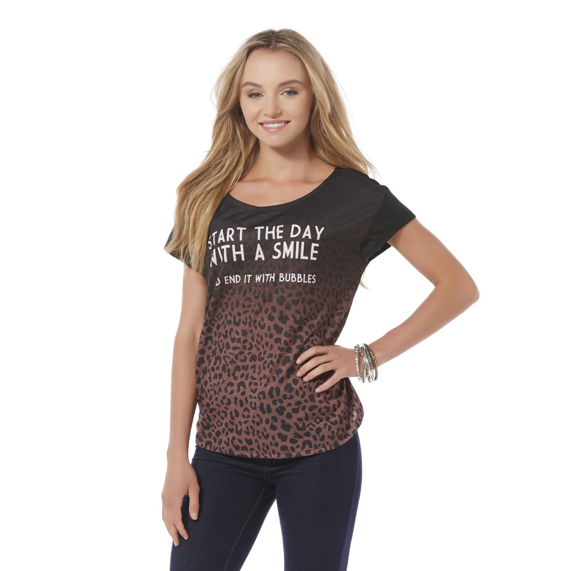 Joe Boxer Junior's Graphic T-Shirt - Leopard Print