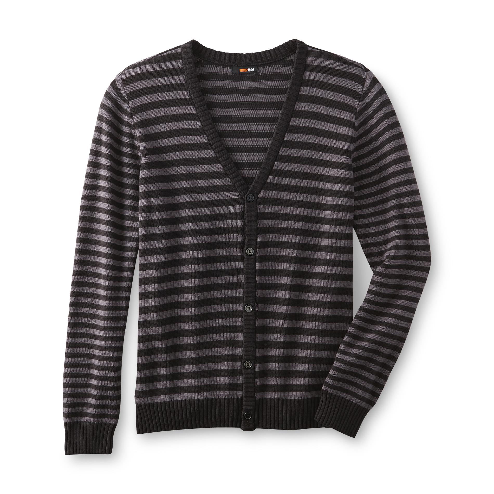 Amplify Young Men's Knit Cardigan - Striped