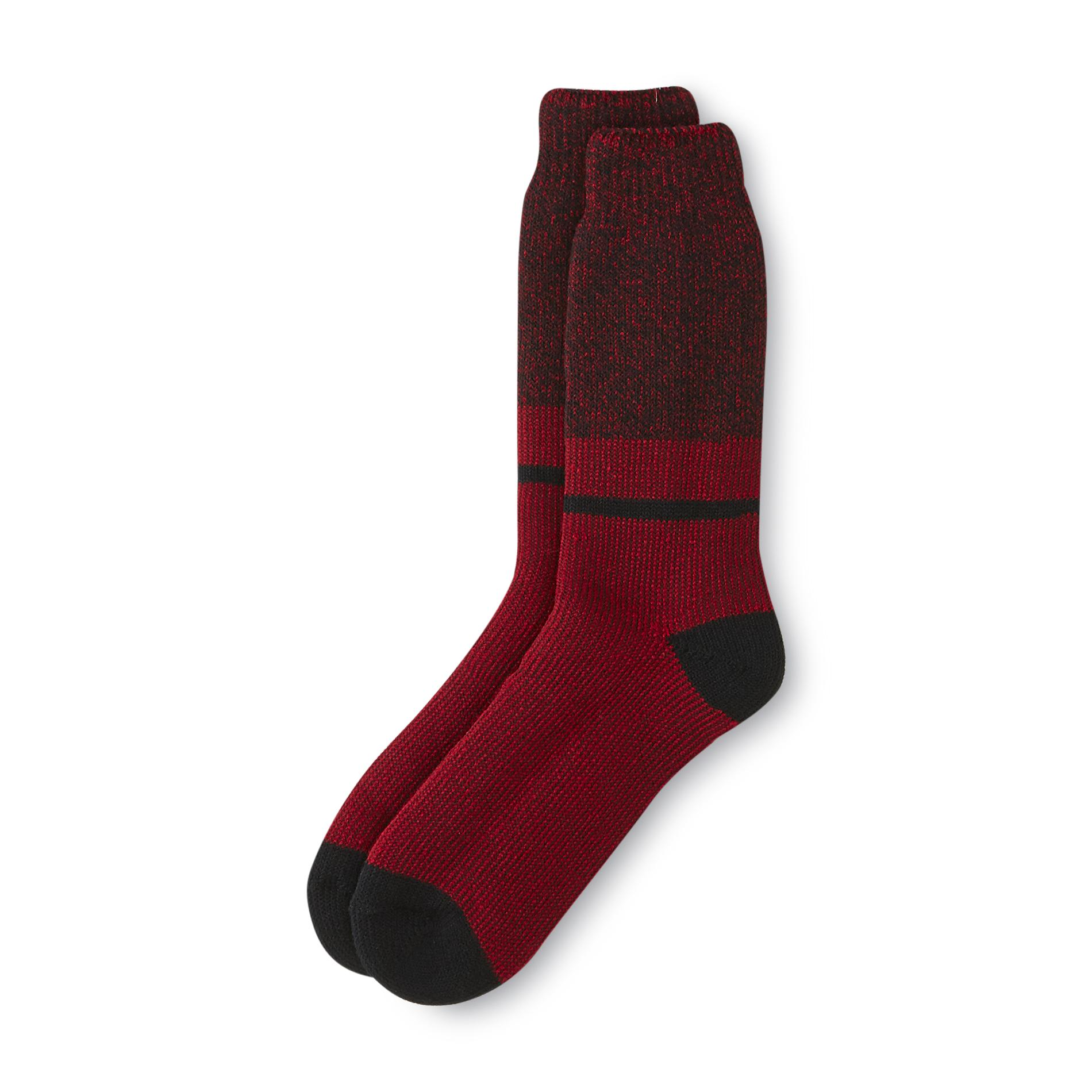Kodiak Men's Heat Plus Thermal Crew Socks - Striped