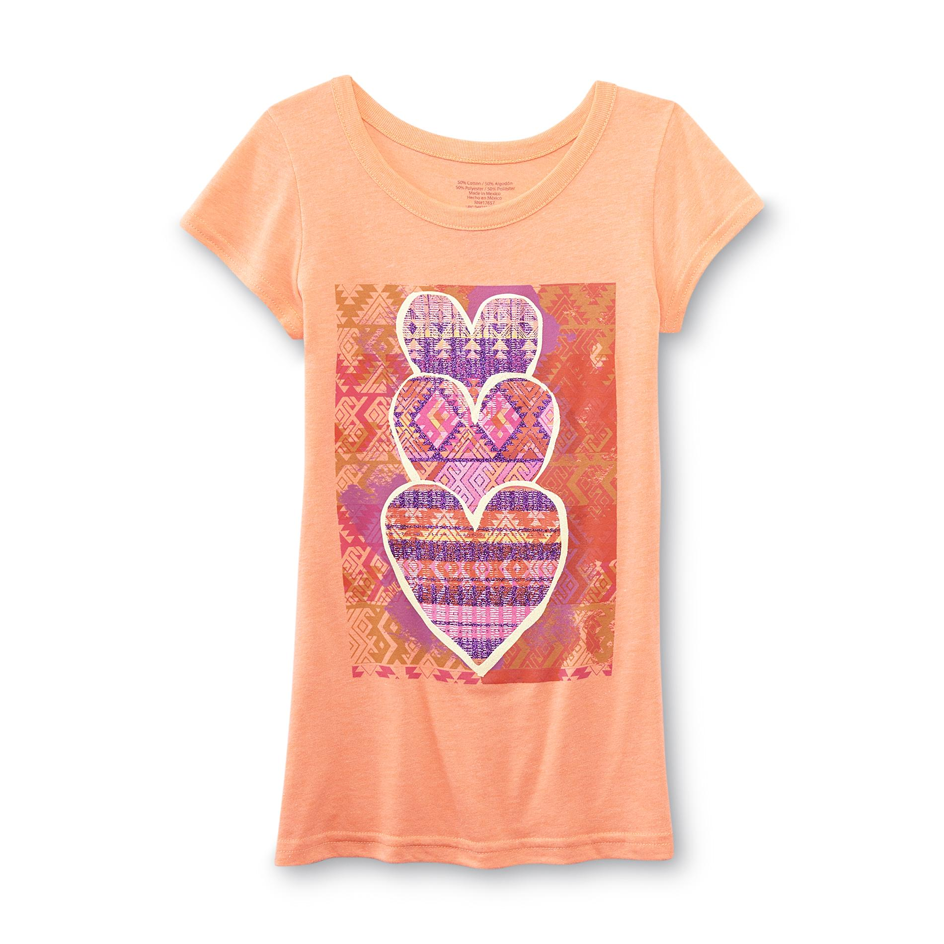Girl's Graphic T-Shirt - Hearts