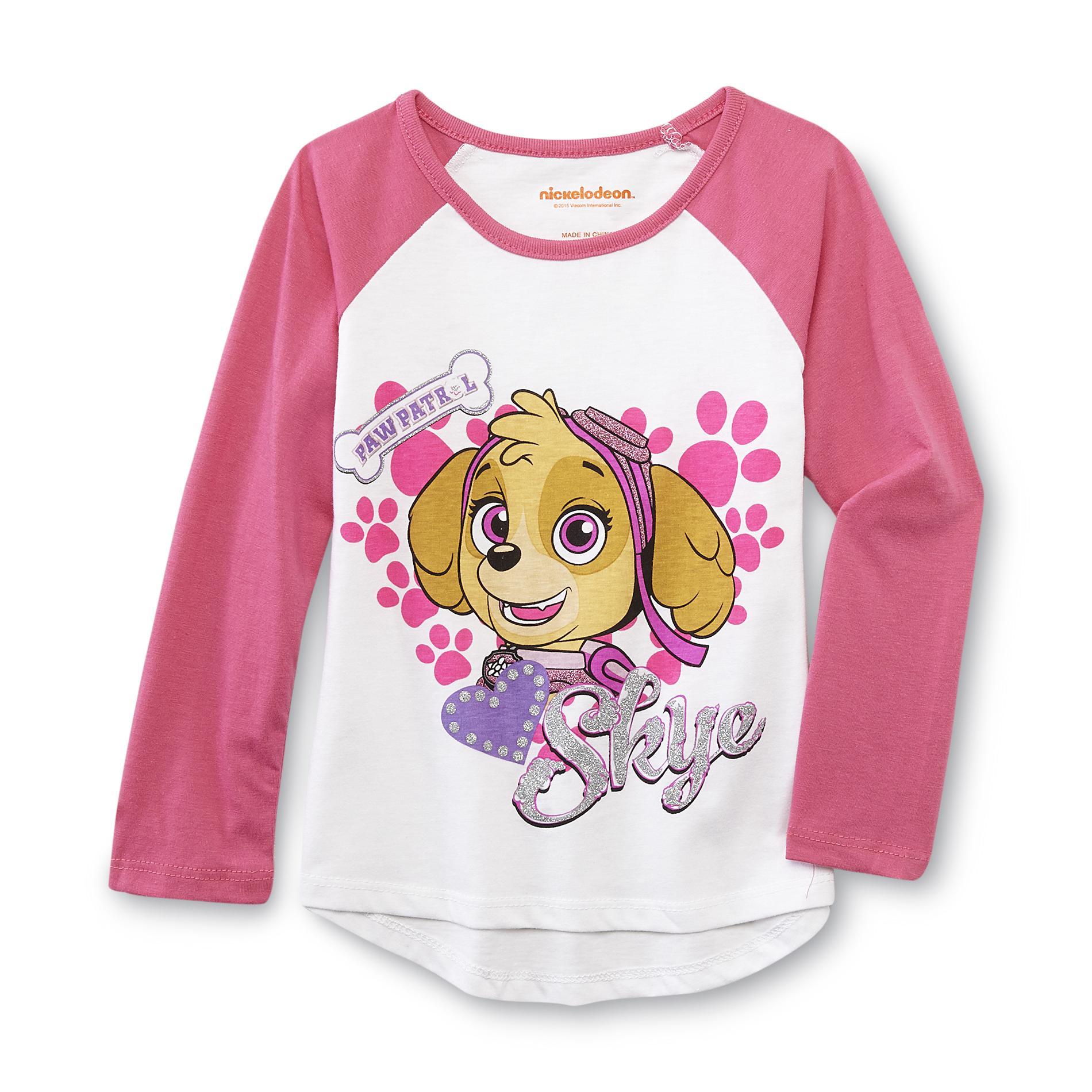 Nickelodeon PAW Patrol Toddler Girl's Raglan T-Shirt - Skye