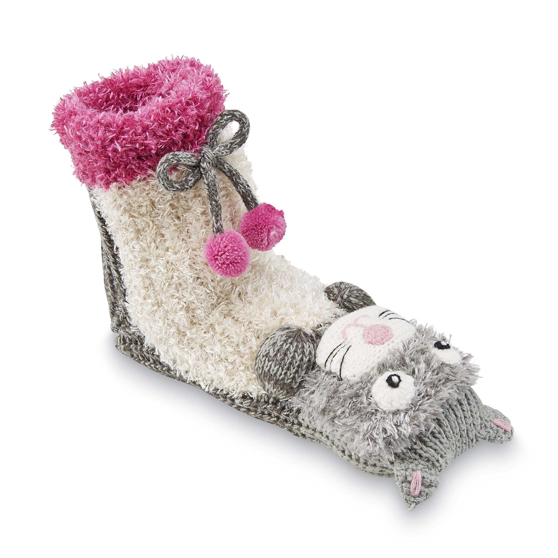 Joe Boxer Women's Plush Slipper Socks - Cat