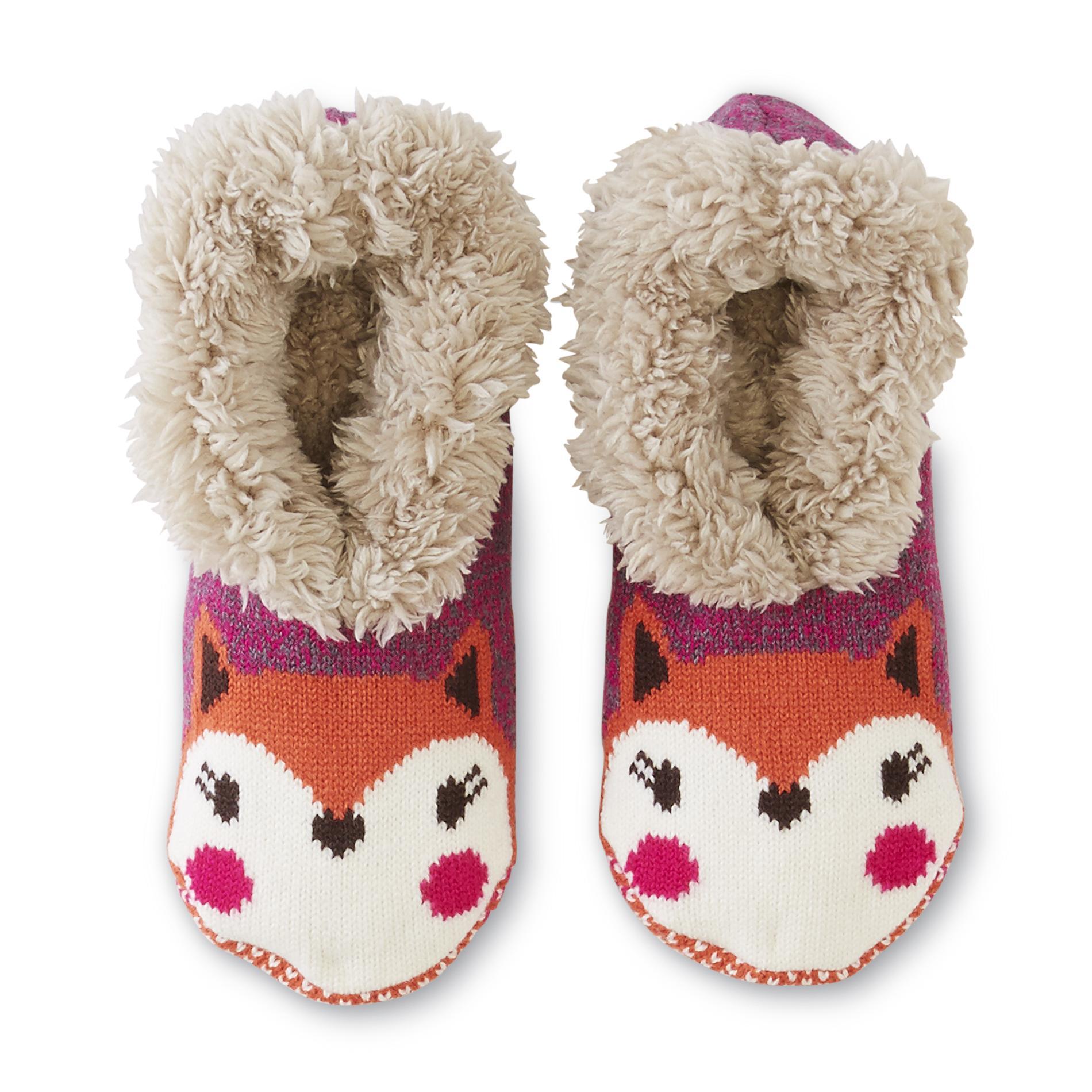 Joe Boxer Women's Plush Slipper Socks - Fox