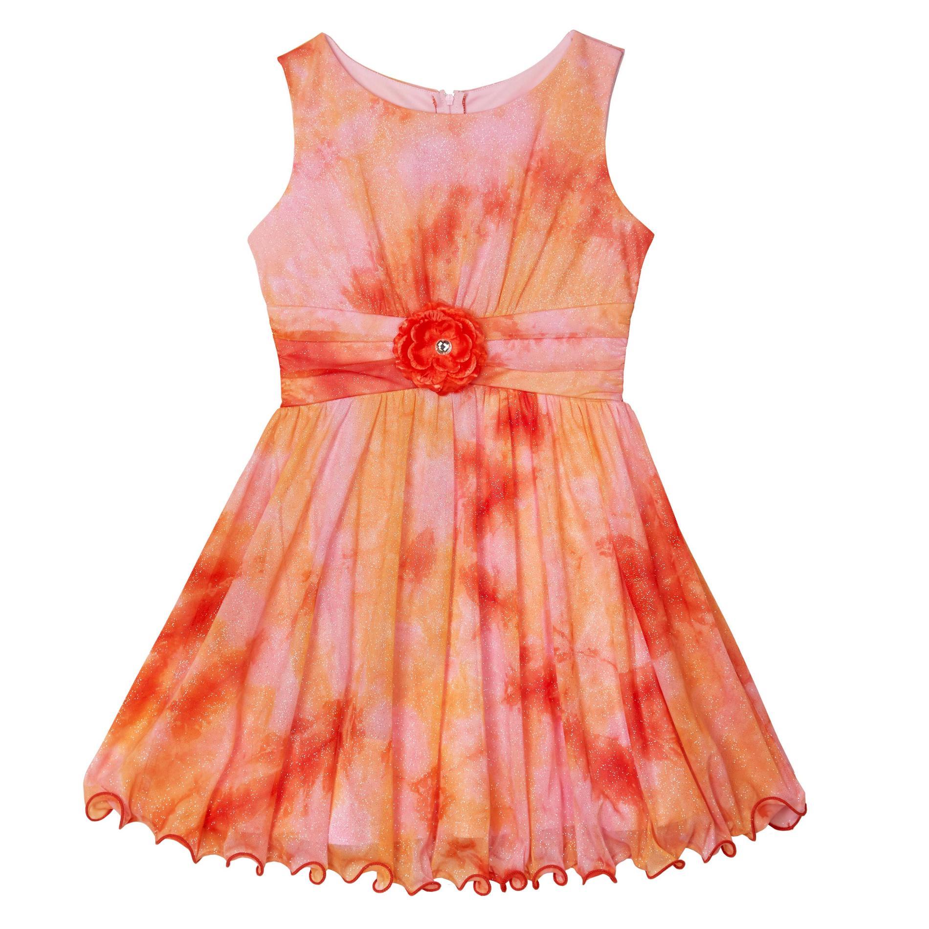 Amy's Closet Girl's Pleated Dress - Tie-Dye